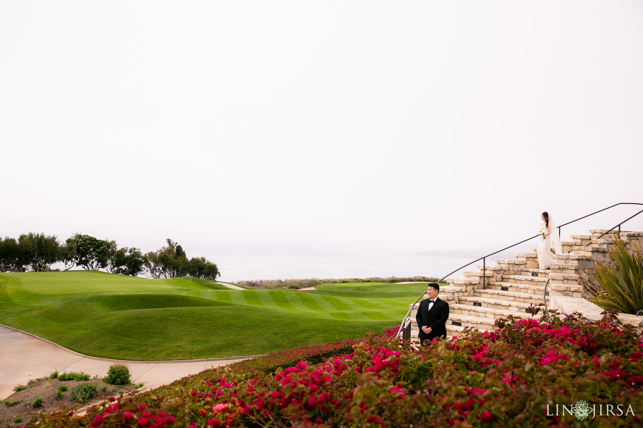 10 trump national golf club rancho palos verdes wedding first look photography