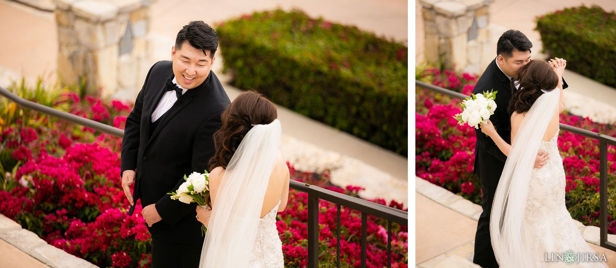 11 trump national golf club rancho palos verdes wedding first look photography
