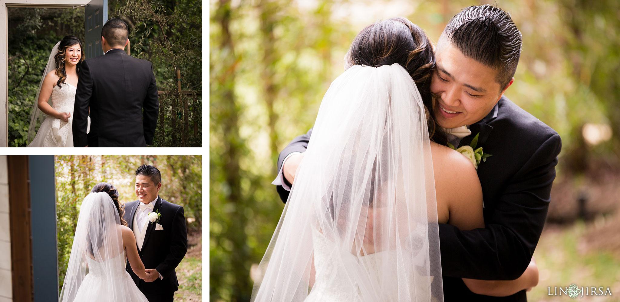 12 calamigos ranch malibu first look wedding photography