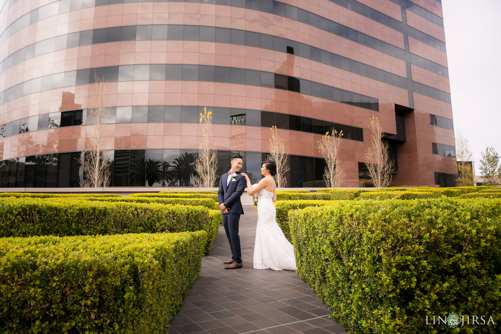 12 orange county first look wedding photography