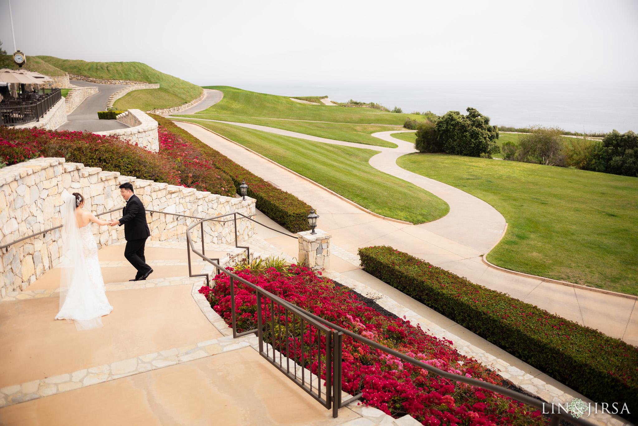 12 trump national golf club rancho palos verdes wedding first look photography