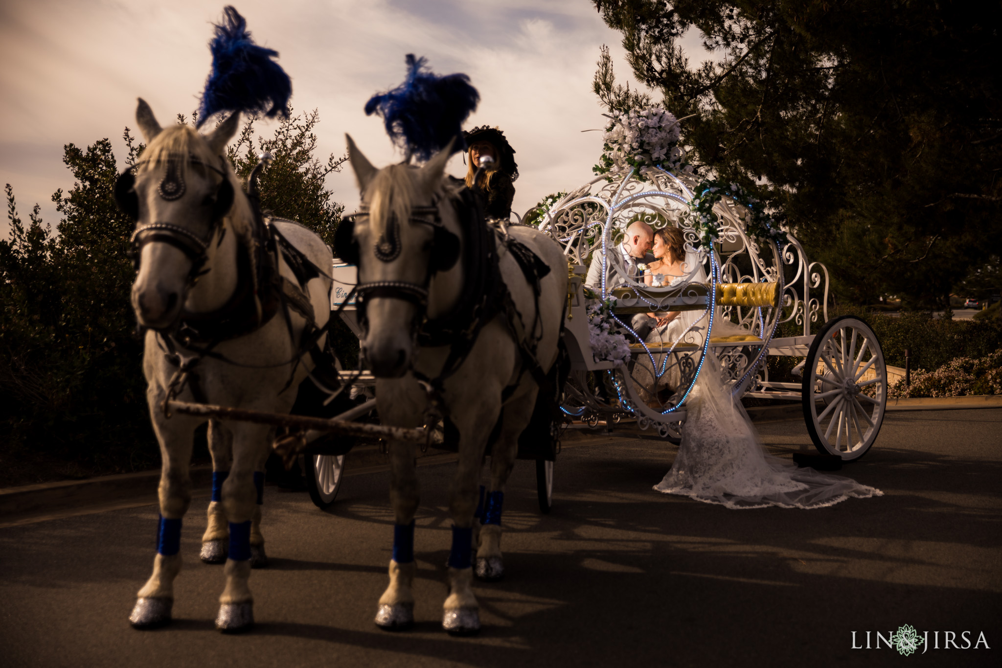 15 pelican hill resort orange county wedding horse carriage photography