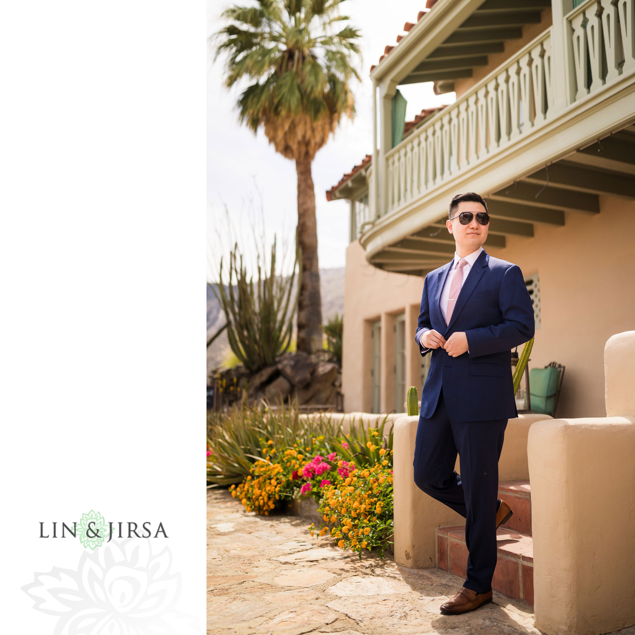 11 odonnell house palm springs groom wedding photography