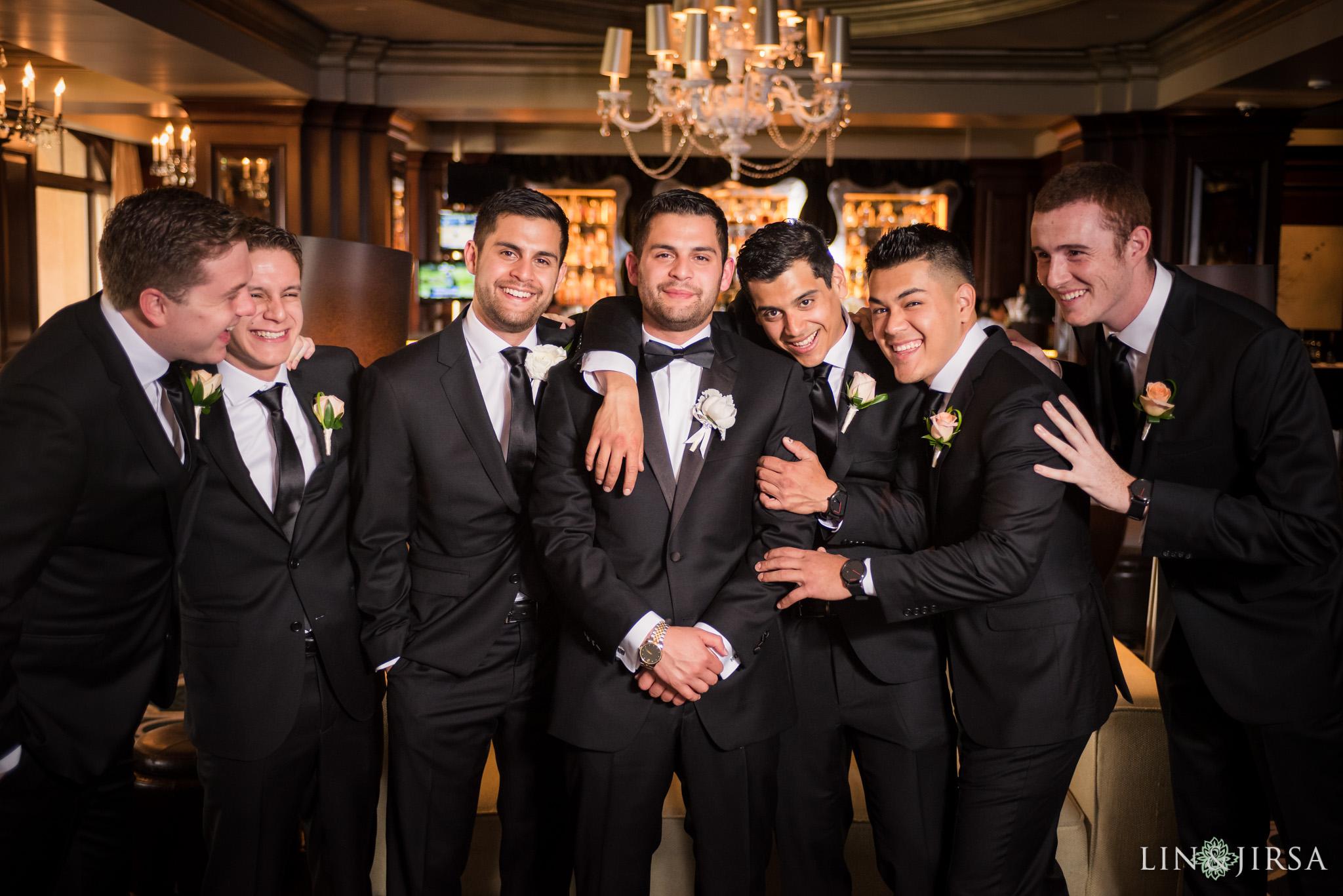 17 langham huntington pasadena groomsmen wedding photography