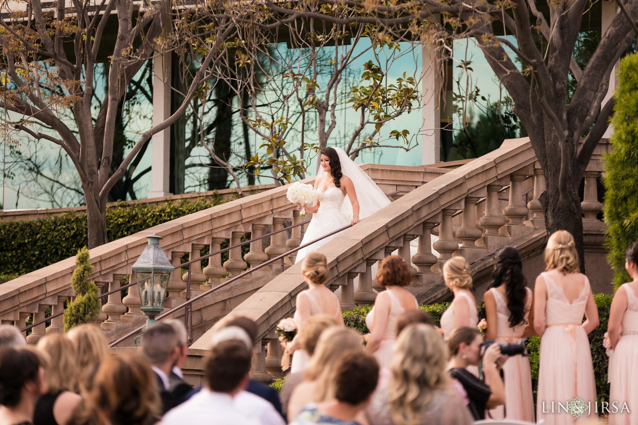 22 langham huntington pasadena wedding ceremony photography