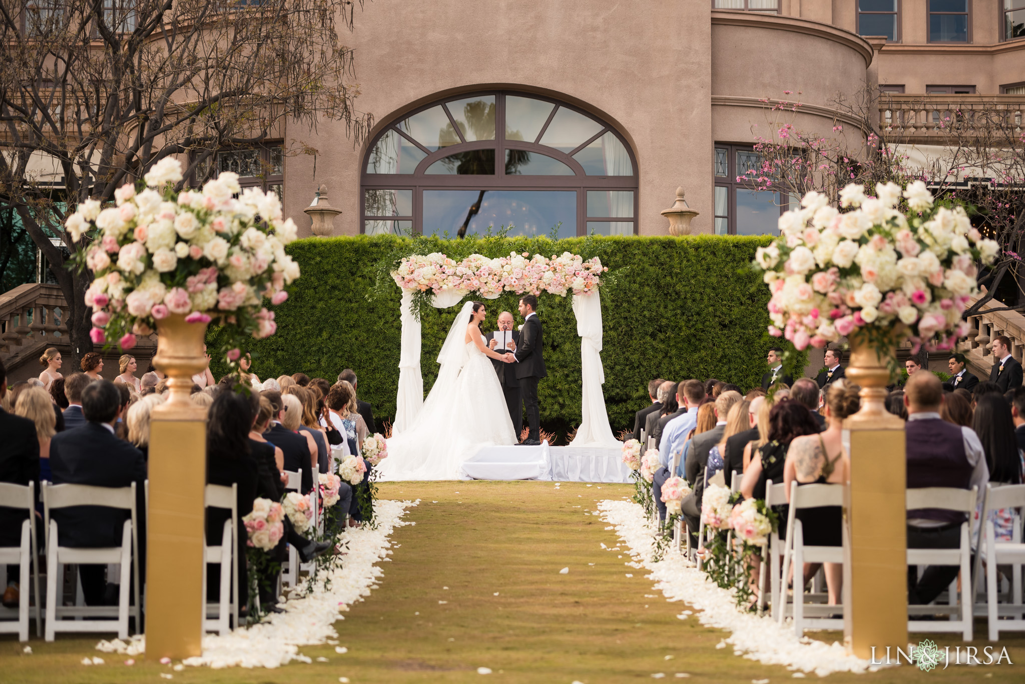 24 langham huntington pasadena wedding ceremony photography