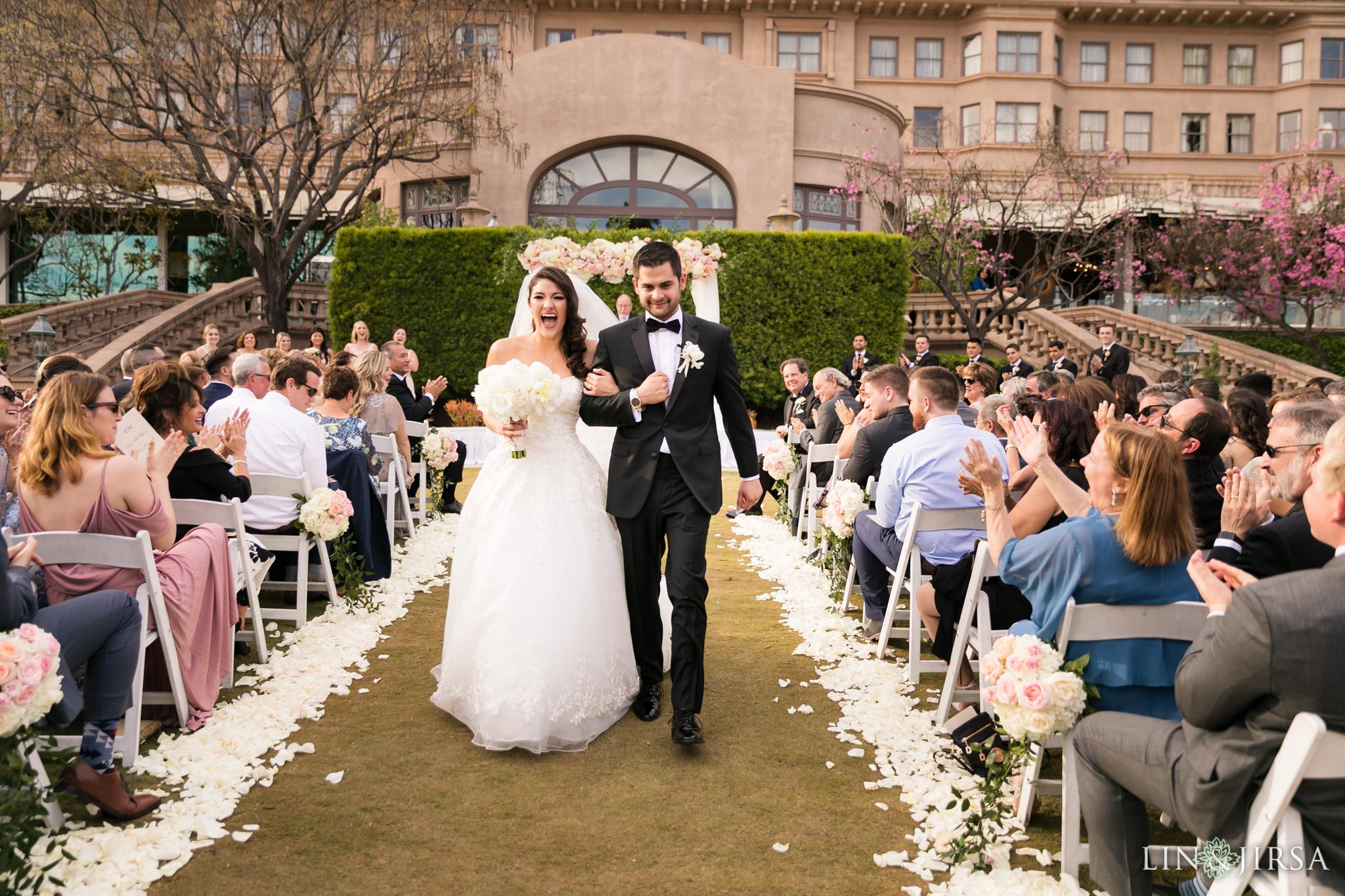 27 langham huntington pasadena wedding ceremony photography