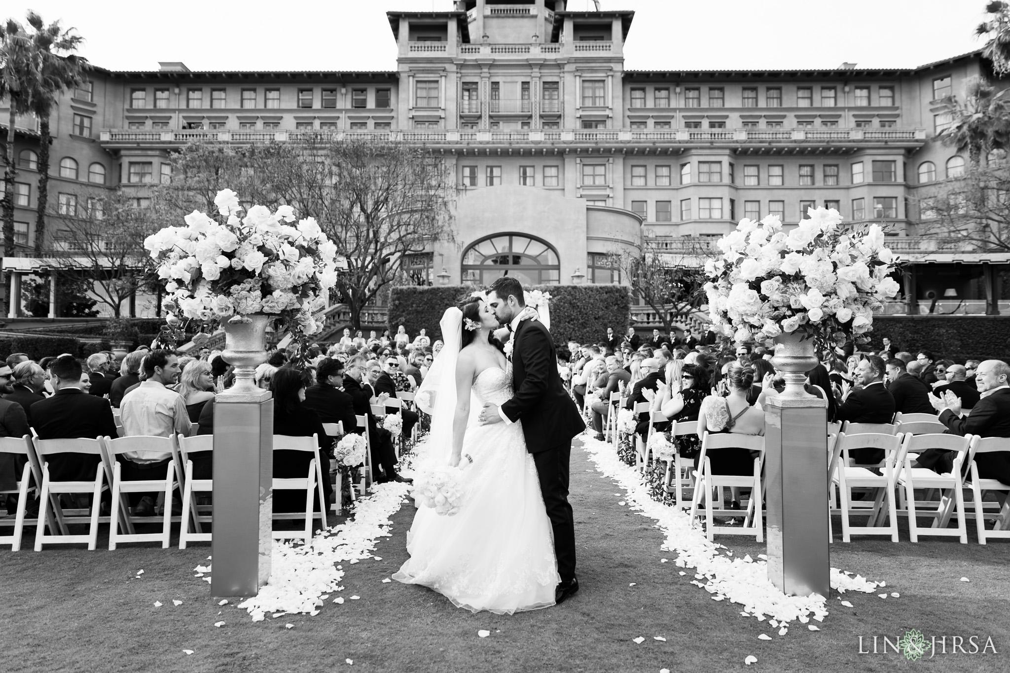 28 langham huntington pasadena wedding ceremony photography