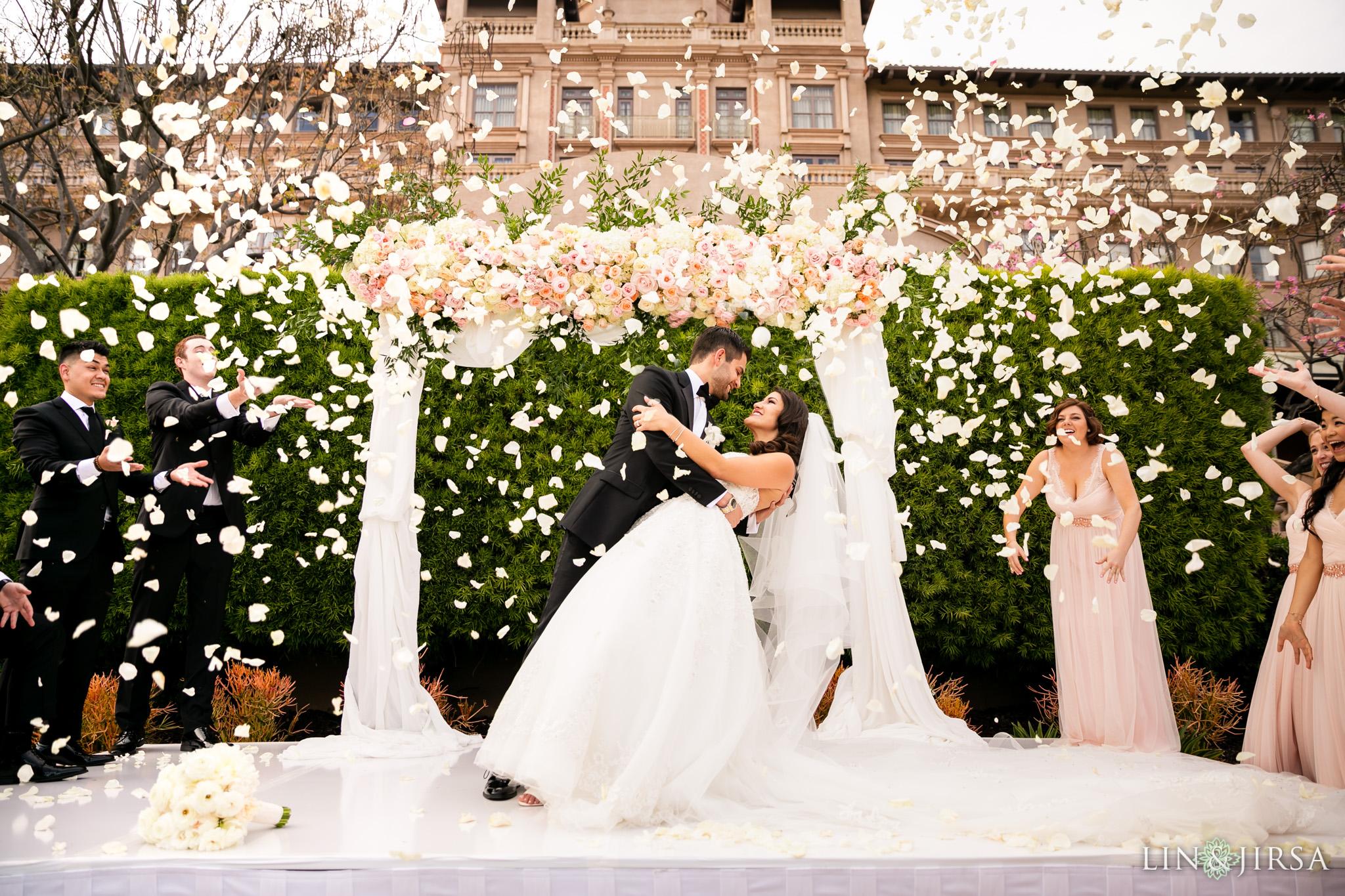 29 langham huntington pasadena wedding ceremony photography
