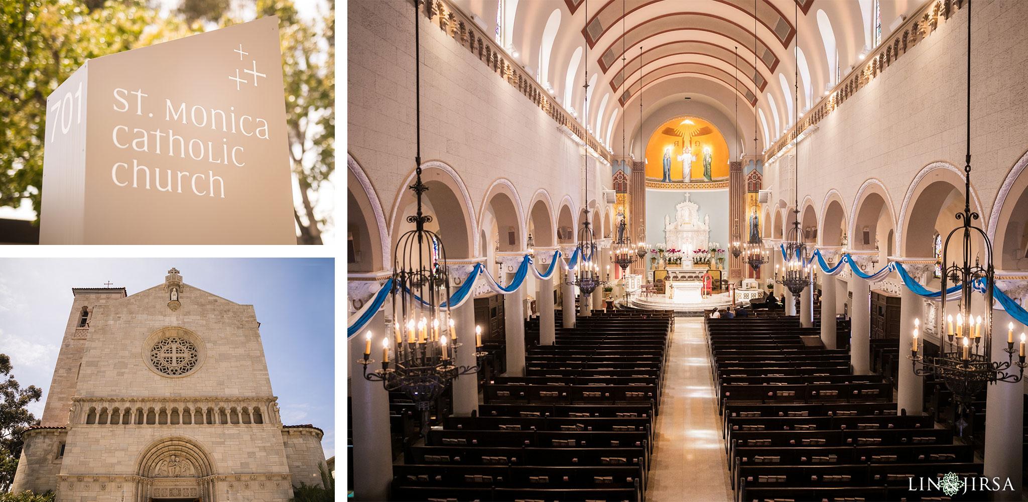 35 stmonica catholic church santa monica wedding ceremony photography