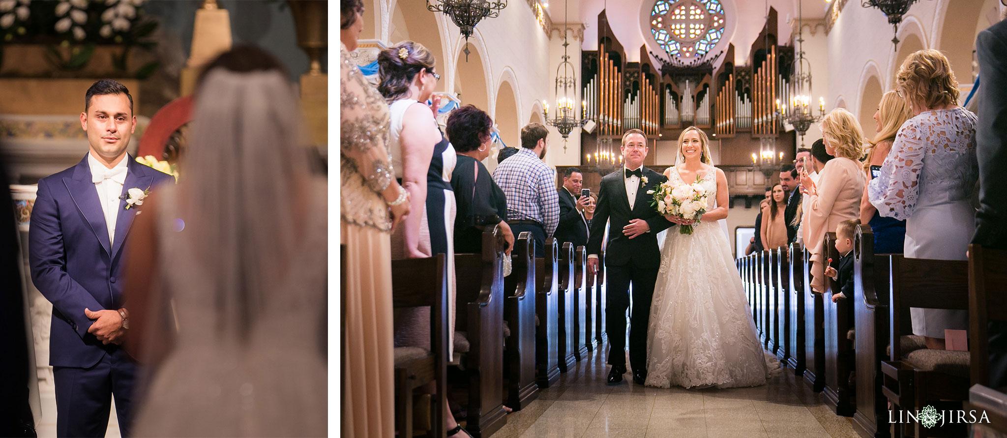 37 stmonica catholic church santa monica wedding ceremony photography