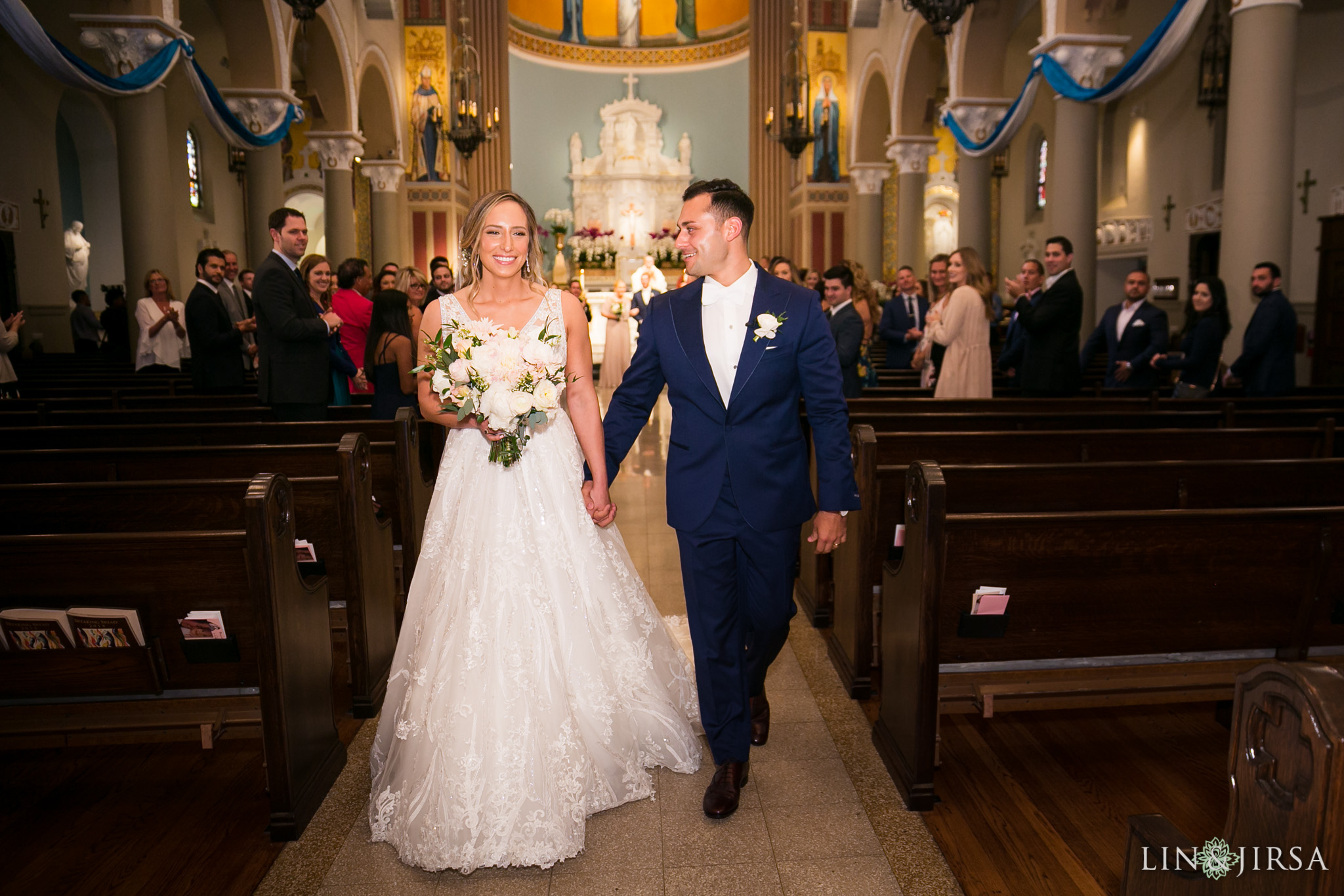 40 stmonica catholic church santa monica wedding ceremony photography