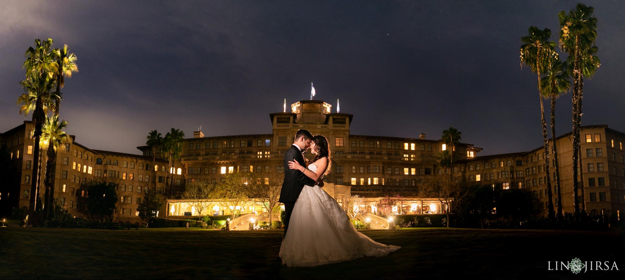 51 langham huntington pasadena wedding night photography 1