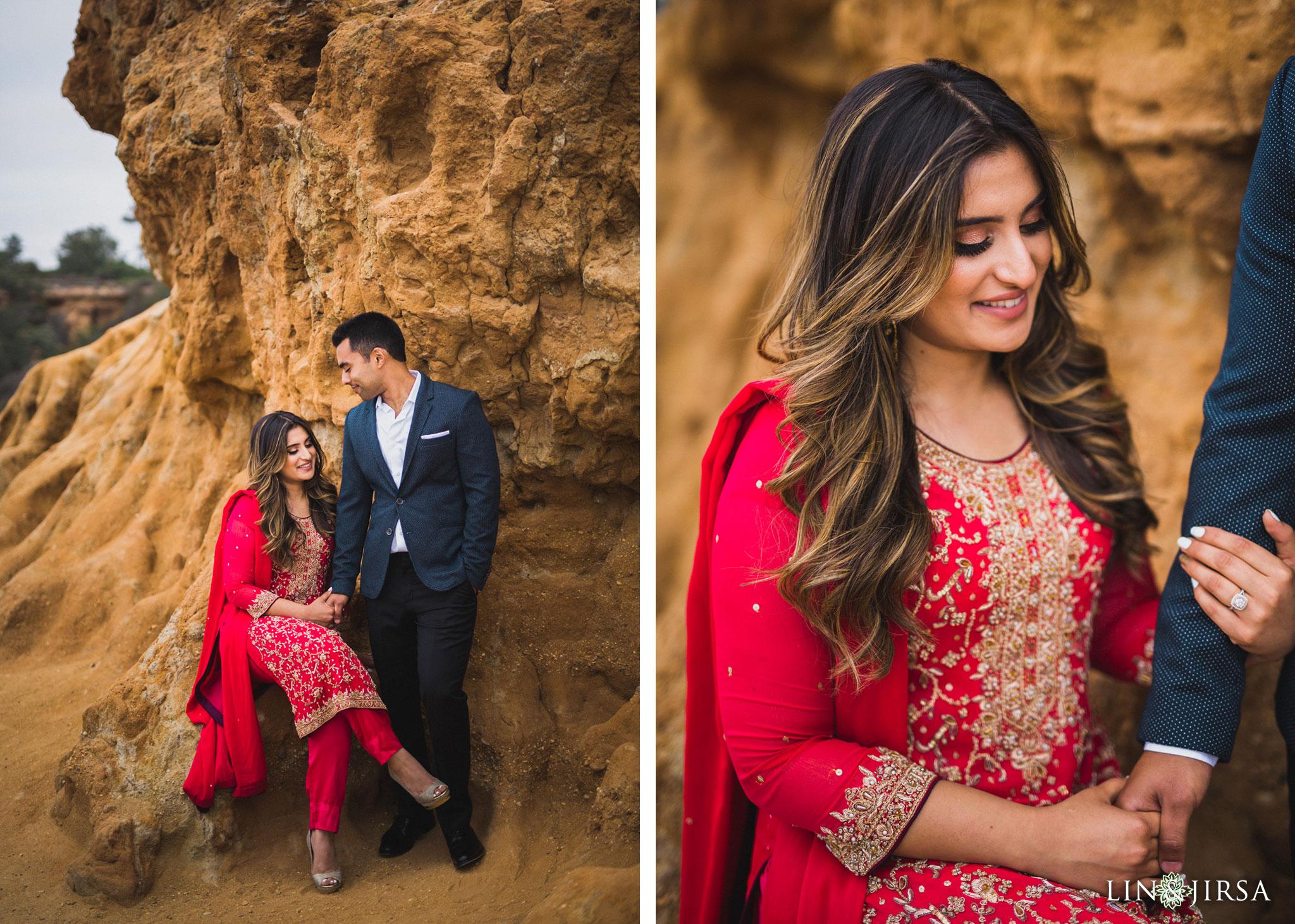 13 san diego beach pakistani engagement photography