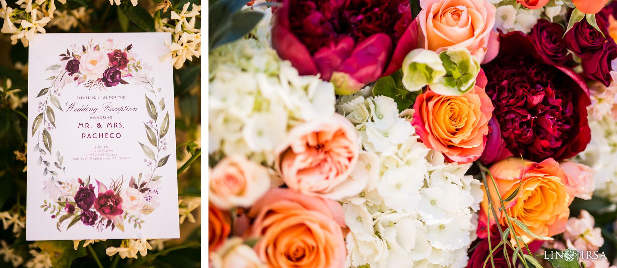 26 serra plaza san juan capistrano wedding ceremony photography