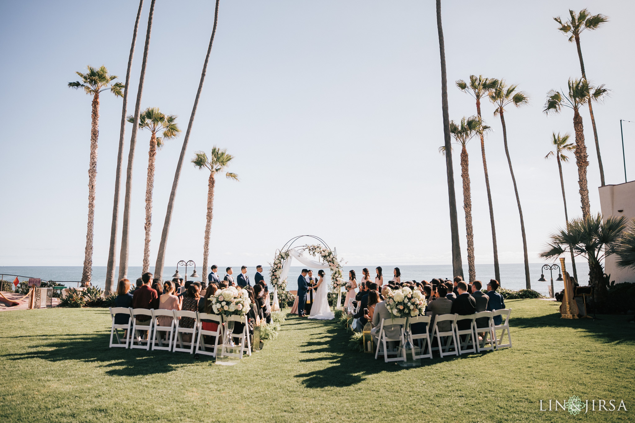 ole hanson beach club san clemente wedding ceremony photography