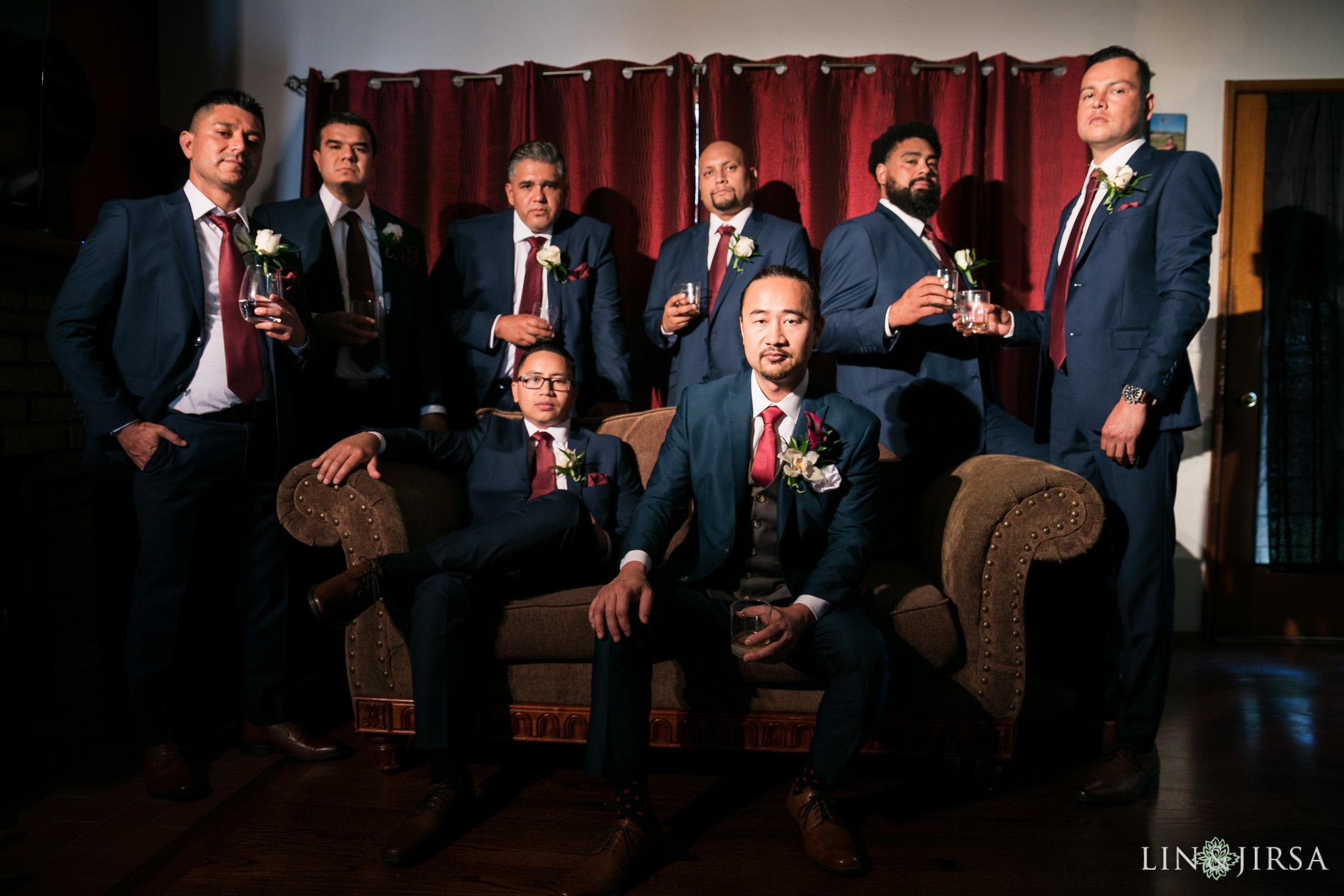 10 orange county groomsmen wedding photography