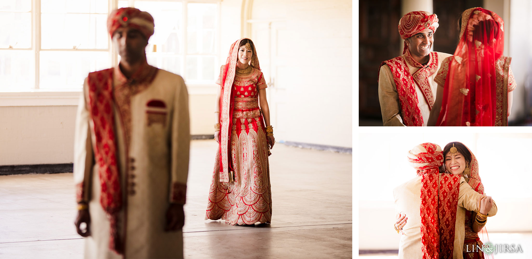 10 the ebell of los angeles indian wedding first look photography