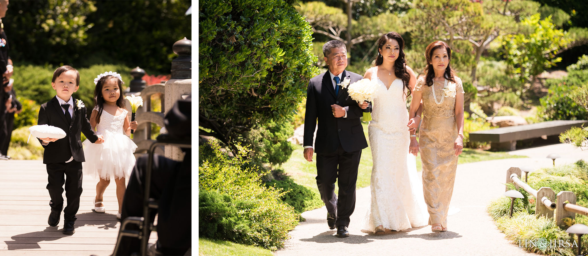 16 earl burns miller japanese gardens long beach wedding ceremony photography
