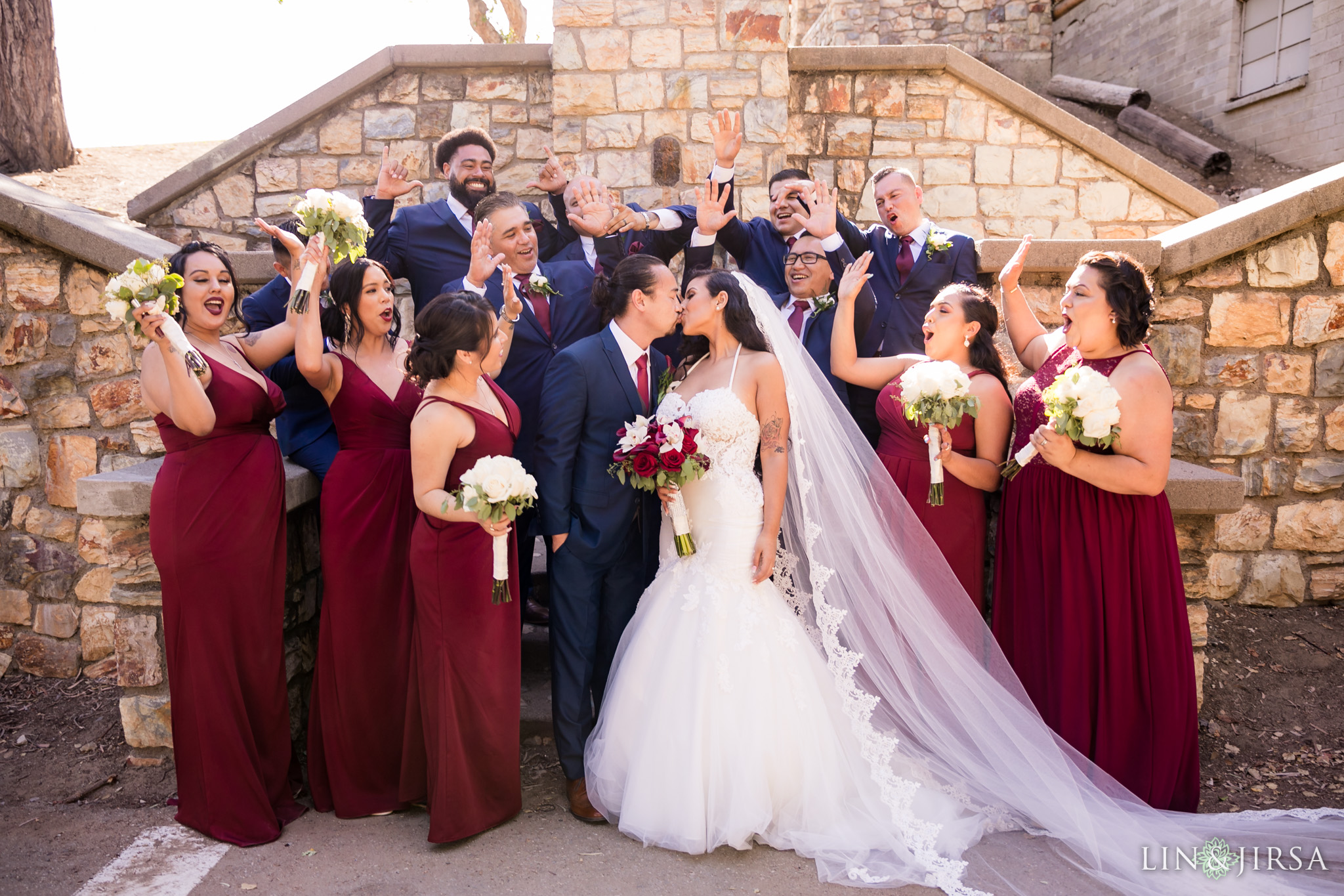 17 orange county wedding party photography