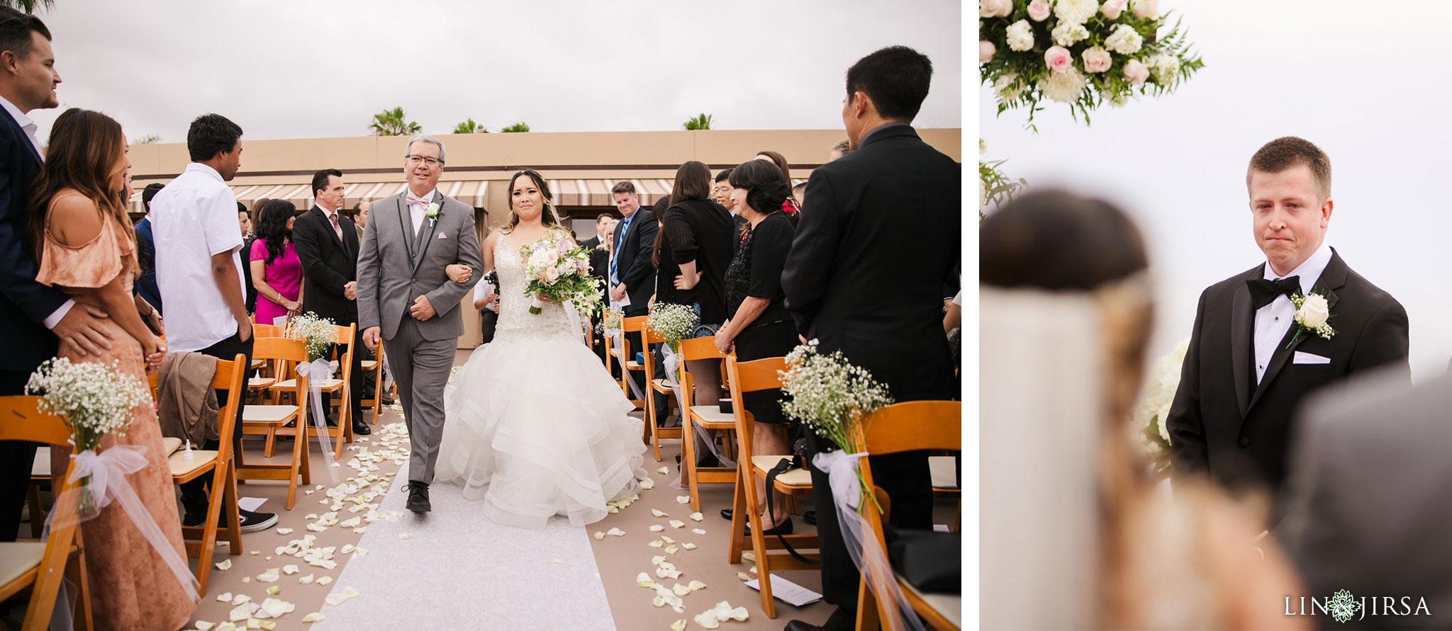 17 surf and sand resort laguna beach wedding ceremony photography