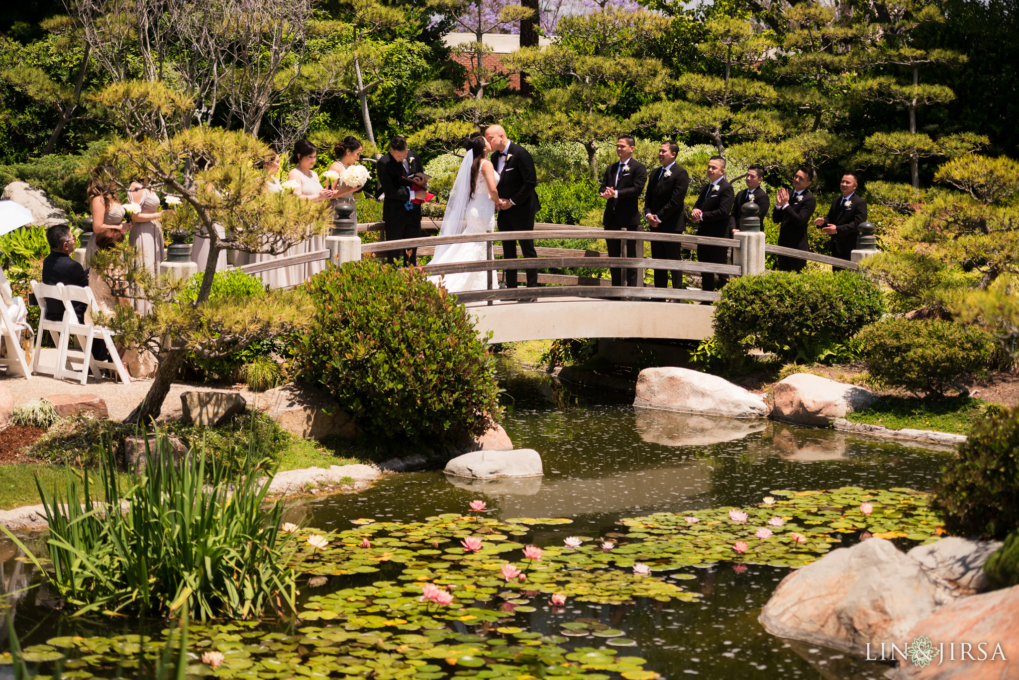 18 earl burns miller japanese gardens long beach wedding ceremony photography