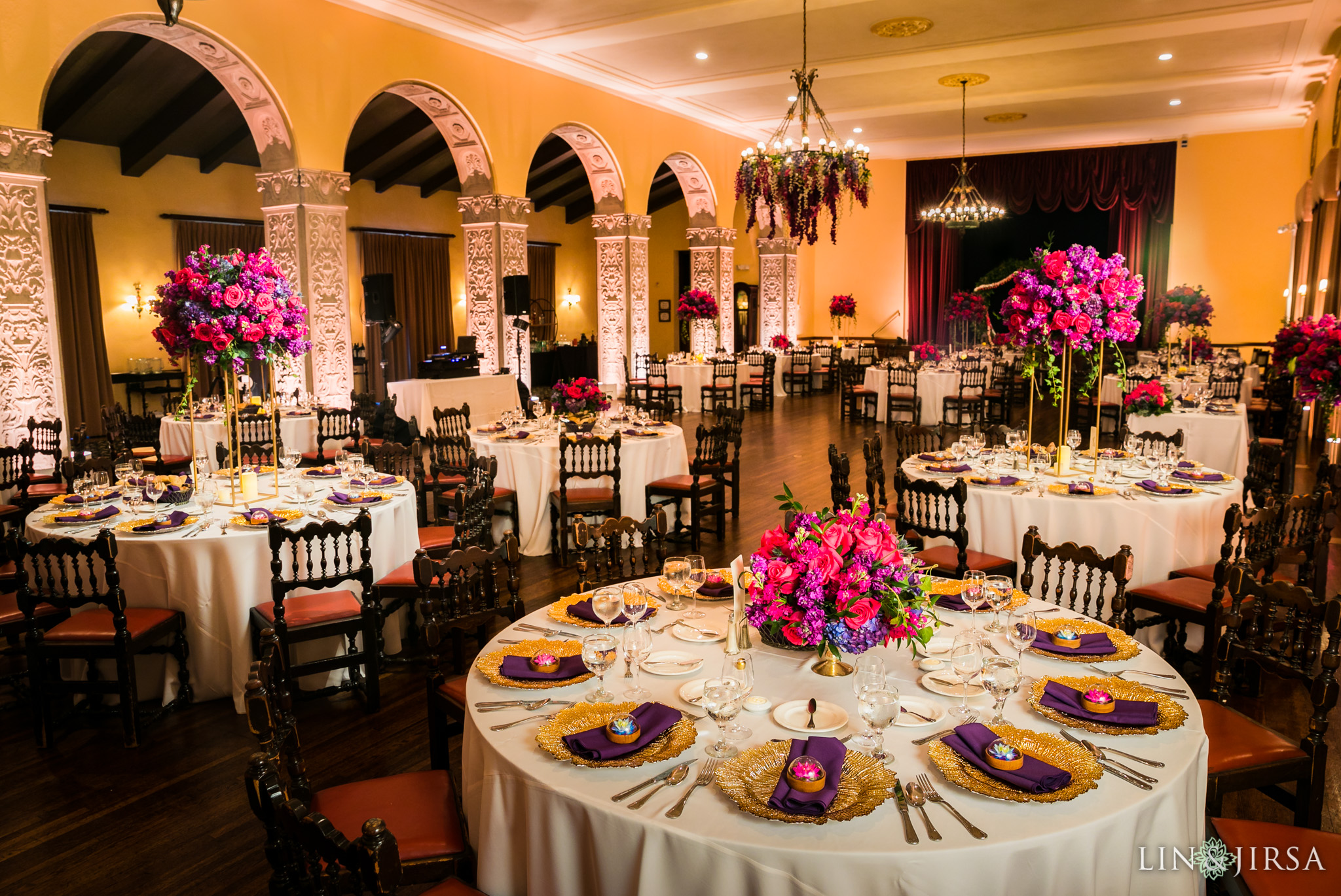 25 the ebell of los angeles indian wedding reception florals photography
