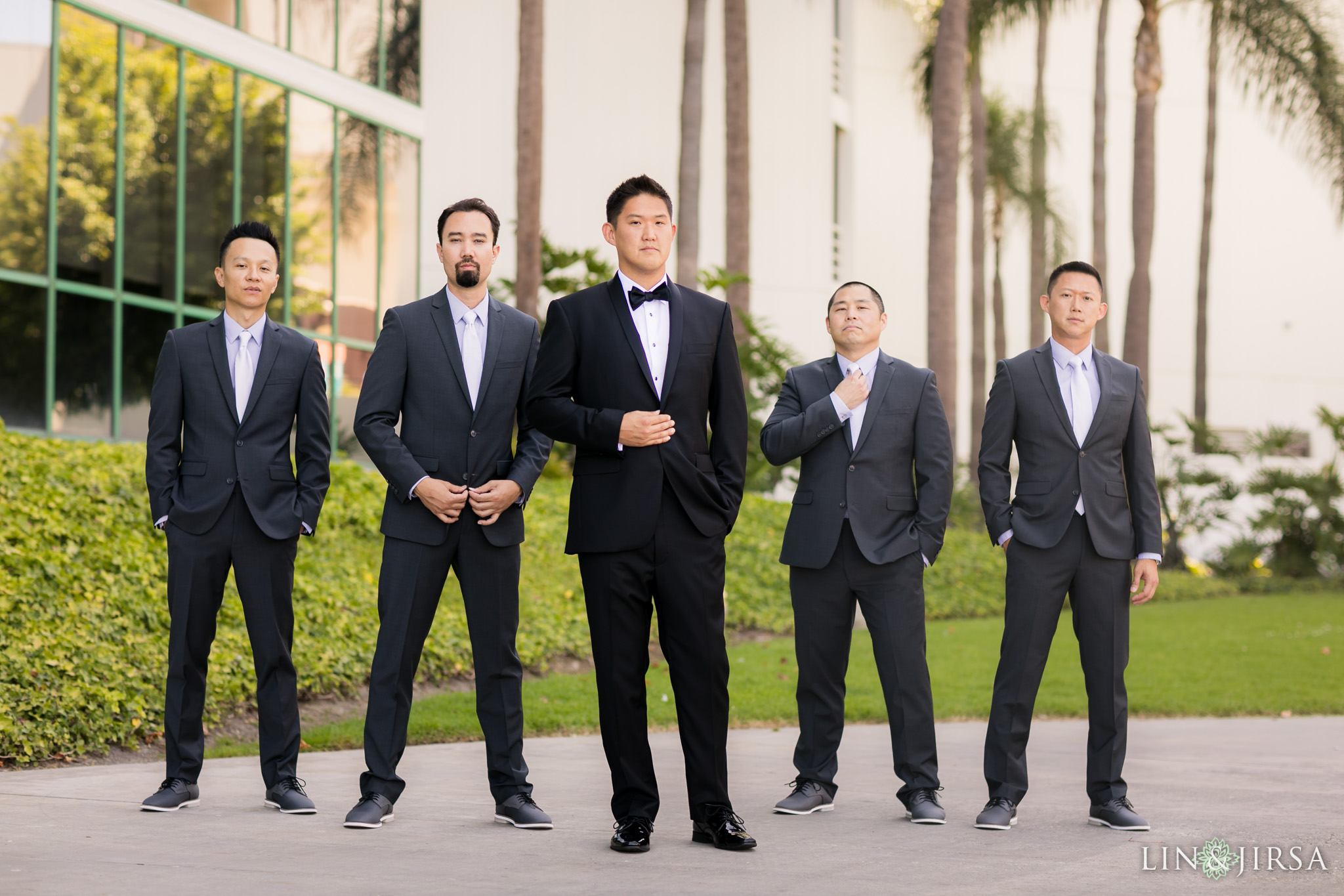 07 hyatt regency long beach wedding groomsmen photography