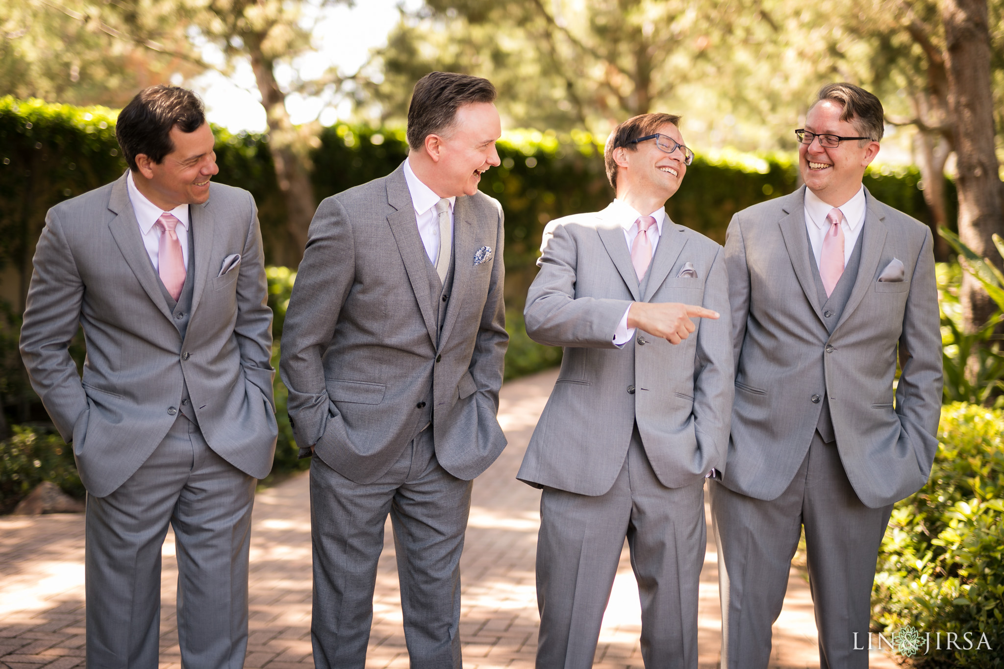 11 pelican hill resort newport coast wedding groomsmen photography