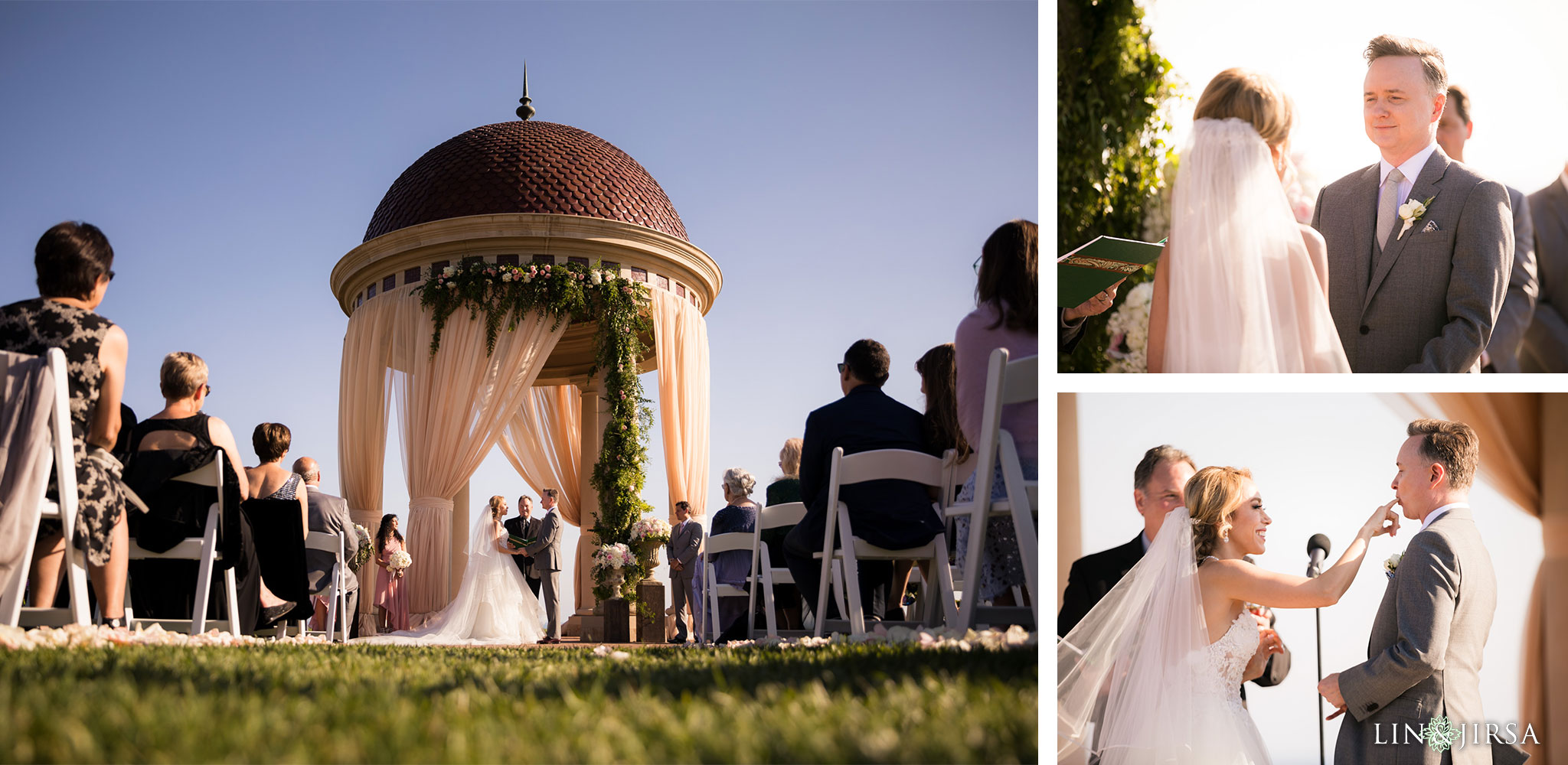 21 pelican hill resort newport coast wedding ceremony photography