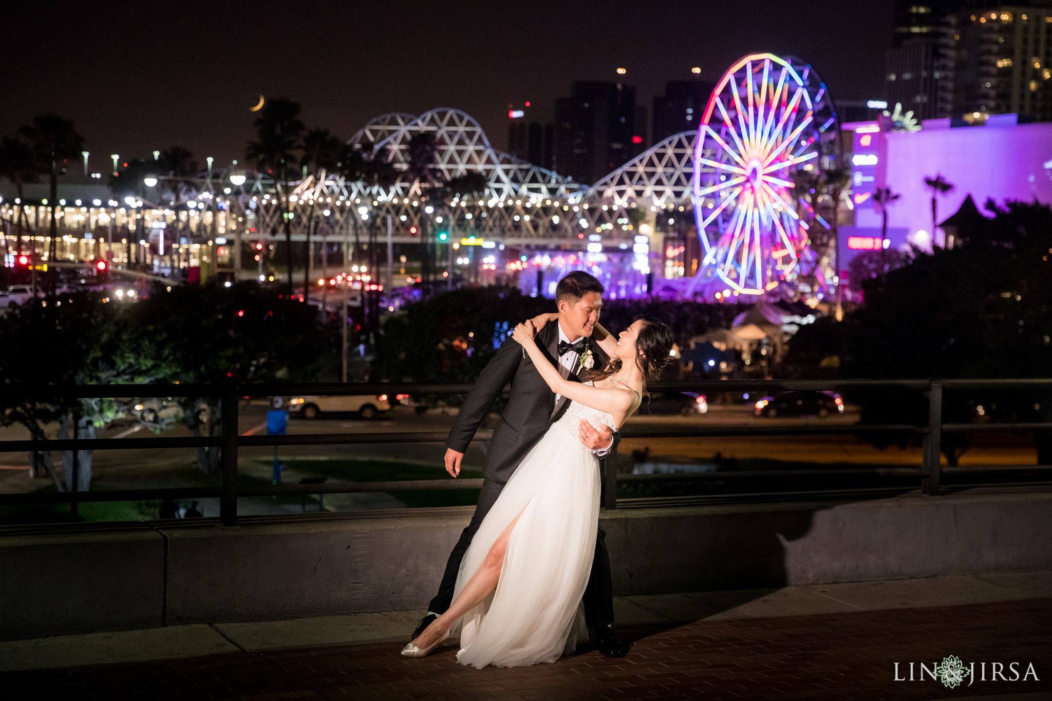 29 hyatt regency long beach wedding city night lights photography