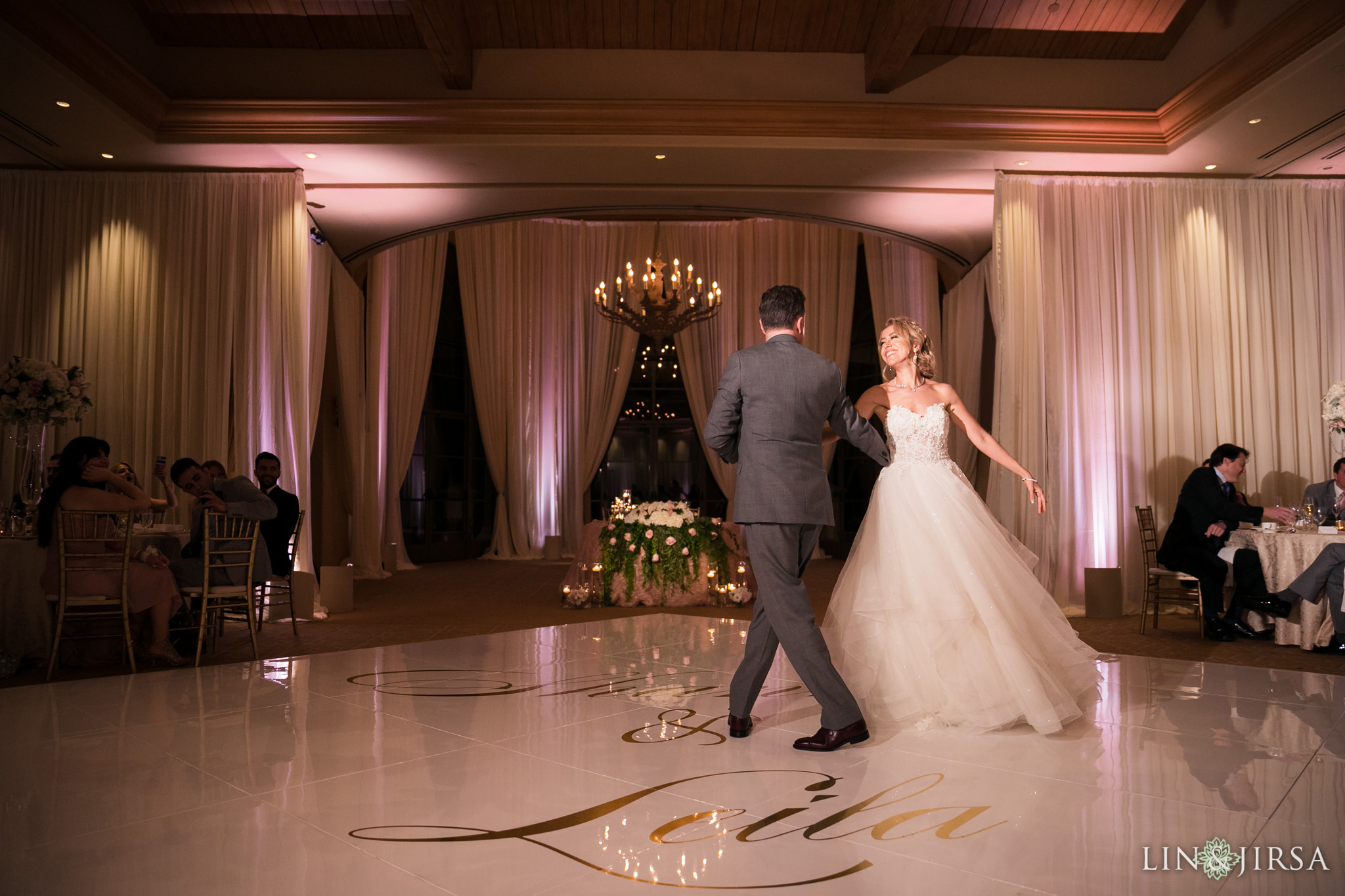 38 pelican hill resort first dance wedding reception photography