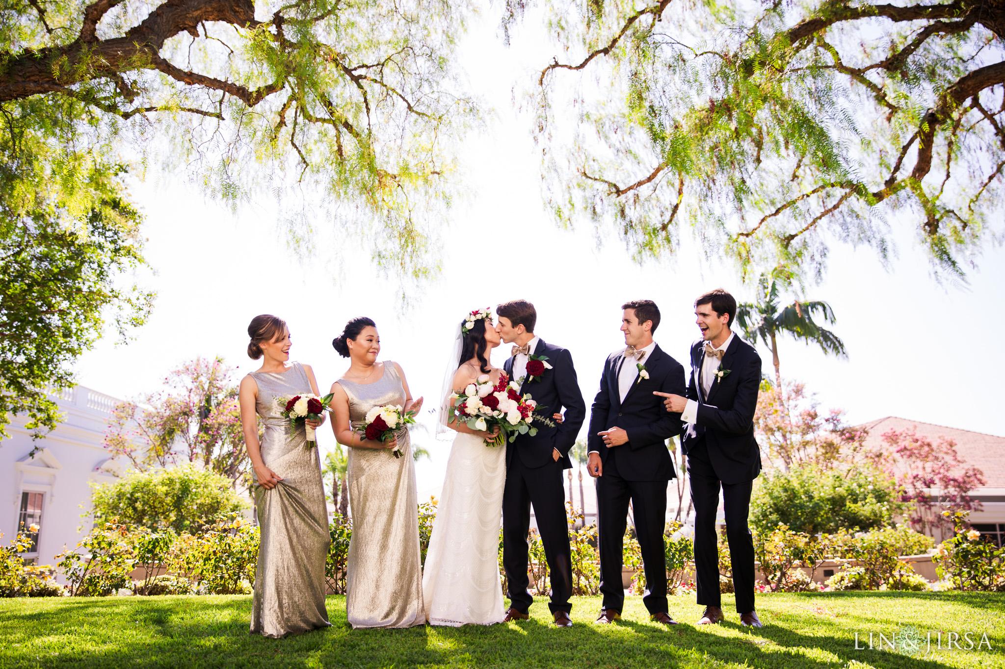 017 richard nixon library wedding party photography