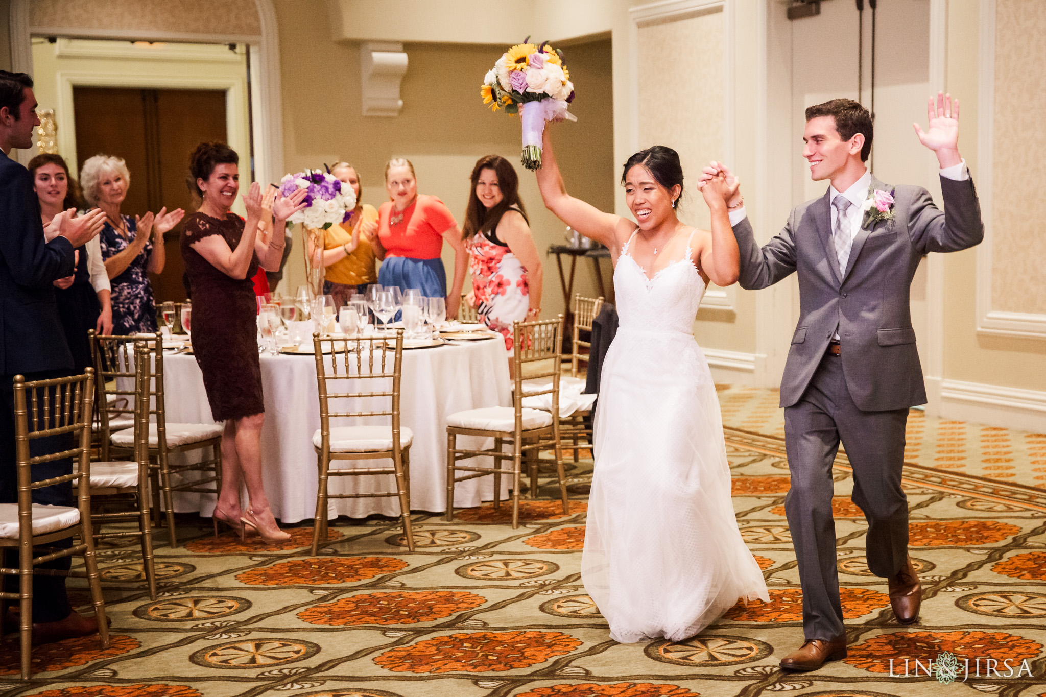 027 hyatt regency huntington beach wedding reception photography
