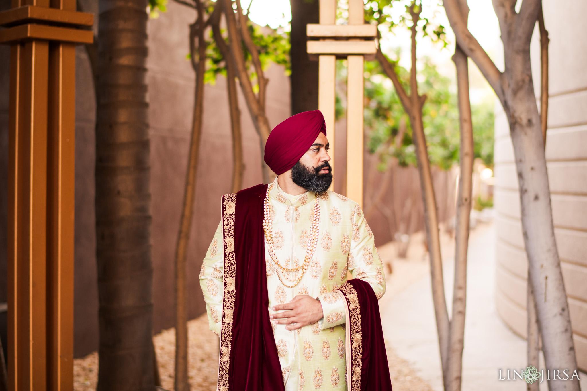 10 marina del rey marriott punjabi groom sikh turban wedding photography