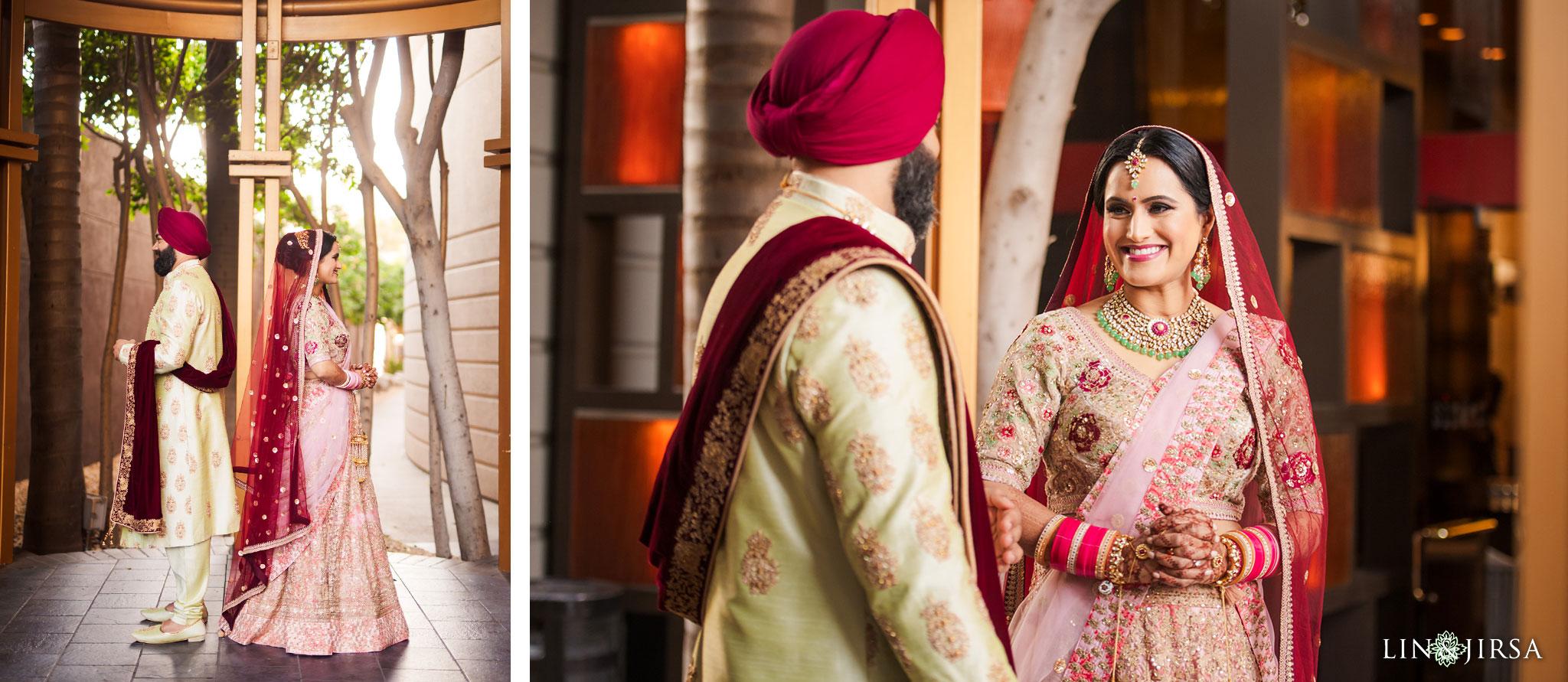 11 marina del rey marriott indian first look wedding photography