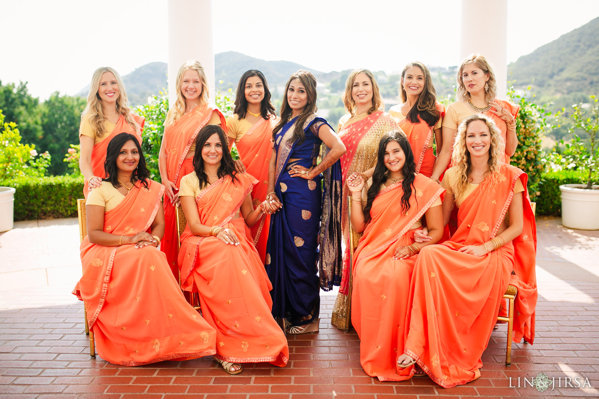 006 sherwood country club indian bridesmaids wedding photography