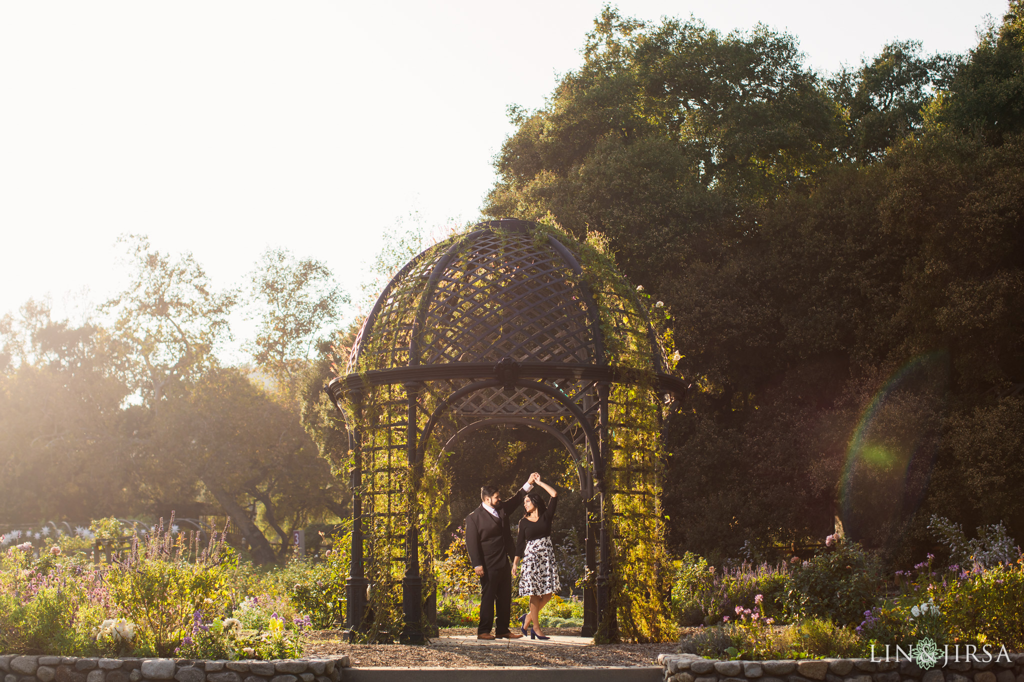 011 descanso gardens los angeles county engagement session