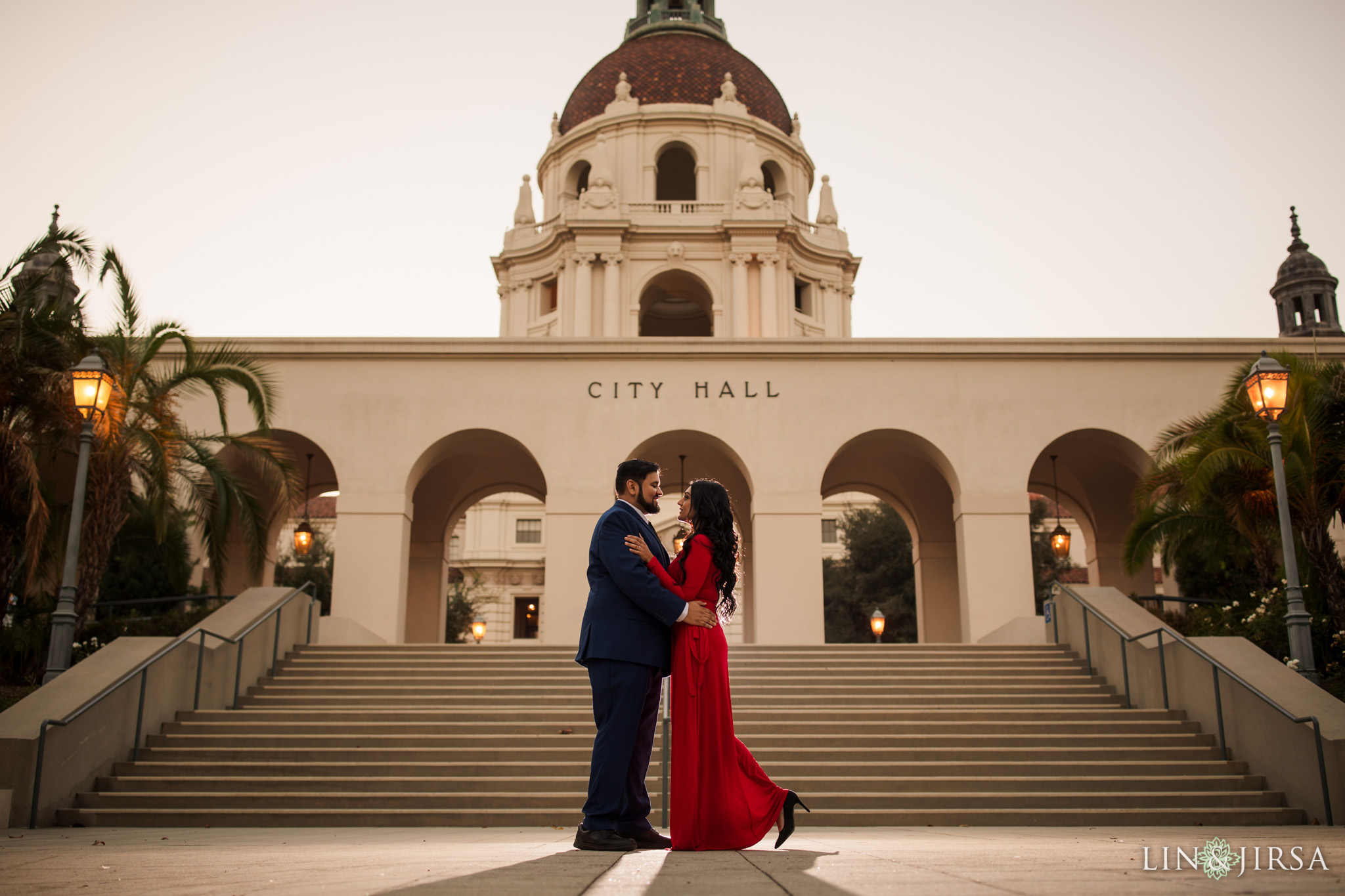 015 pasadena city hall engagement session