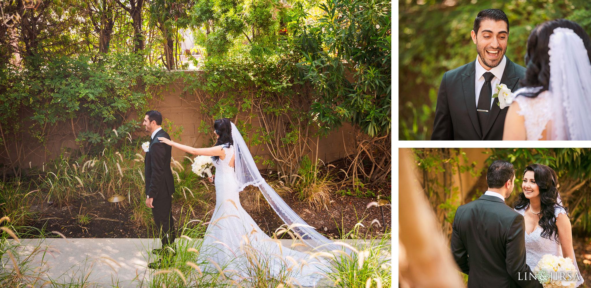 022 estancia la jolla hotel spa persian first look wedding photography