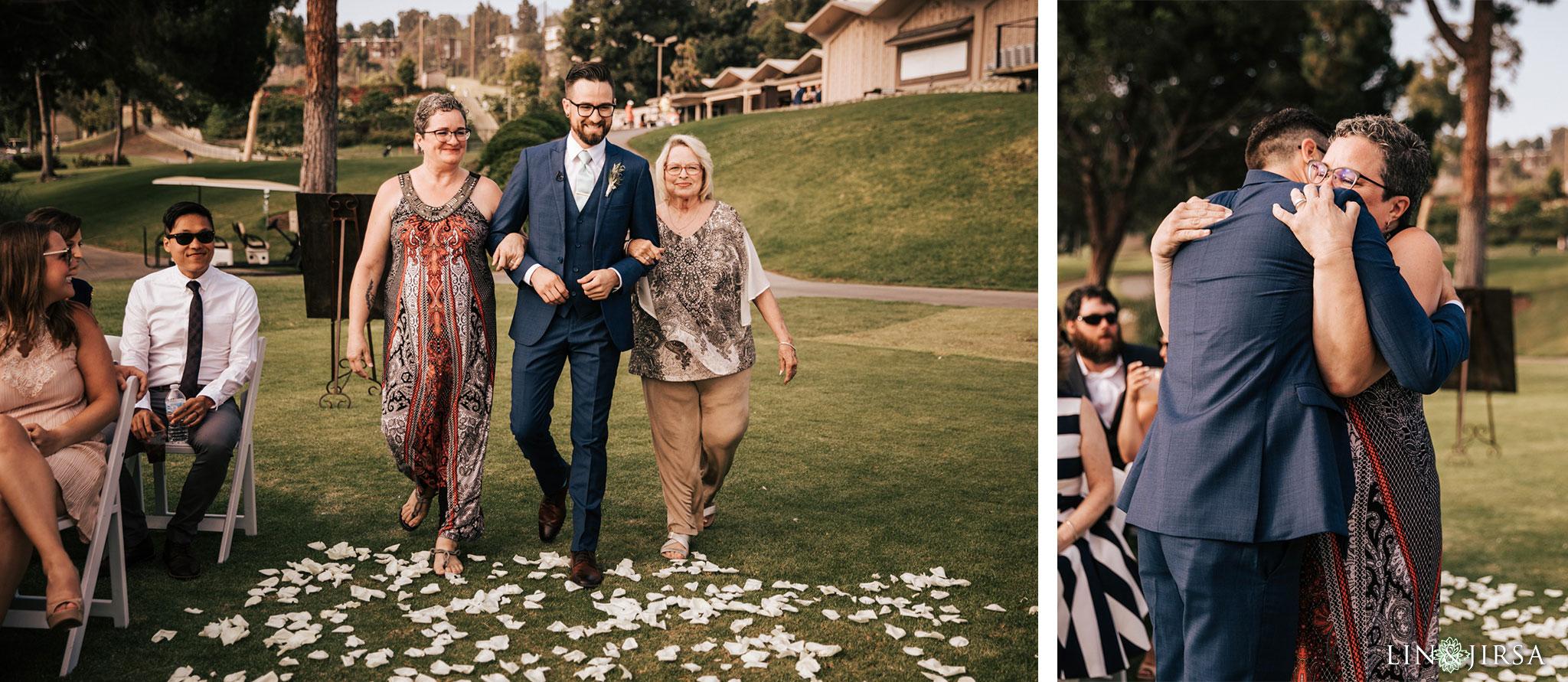 022 los verdes golf course wedding ceremony photography