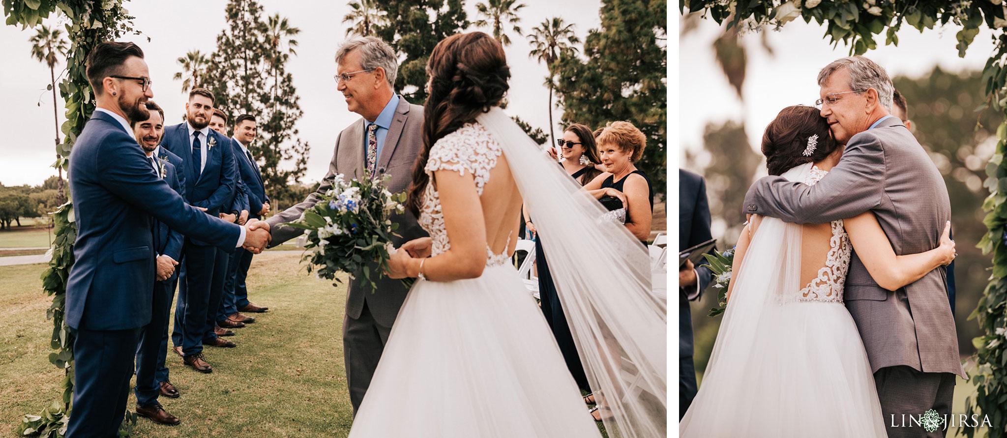 025 los verdes golf course wedding ceremony photography