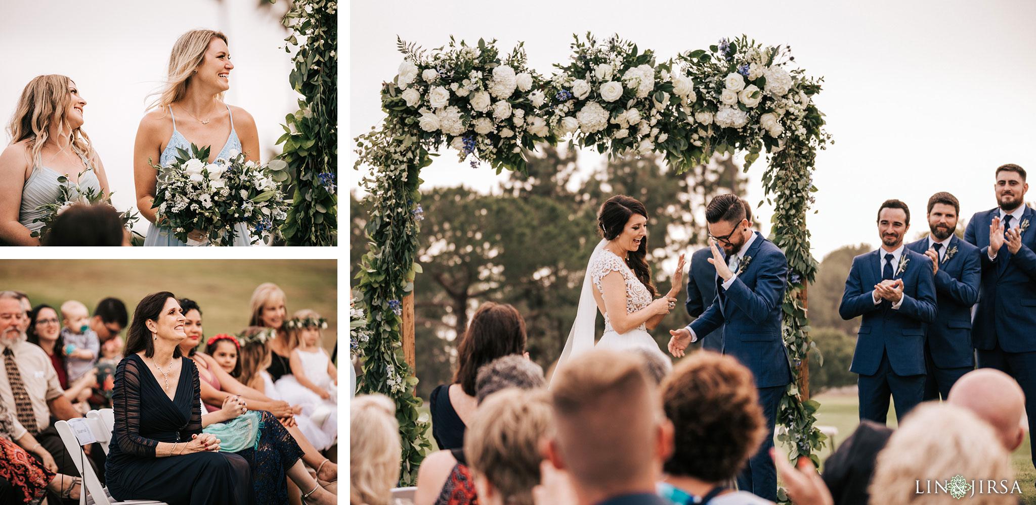 029 los verdes golf course wedding ceremony photography