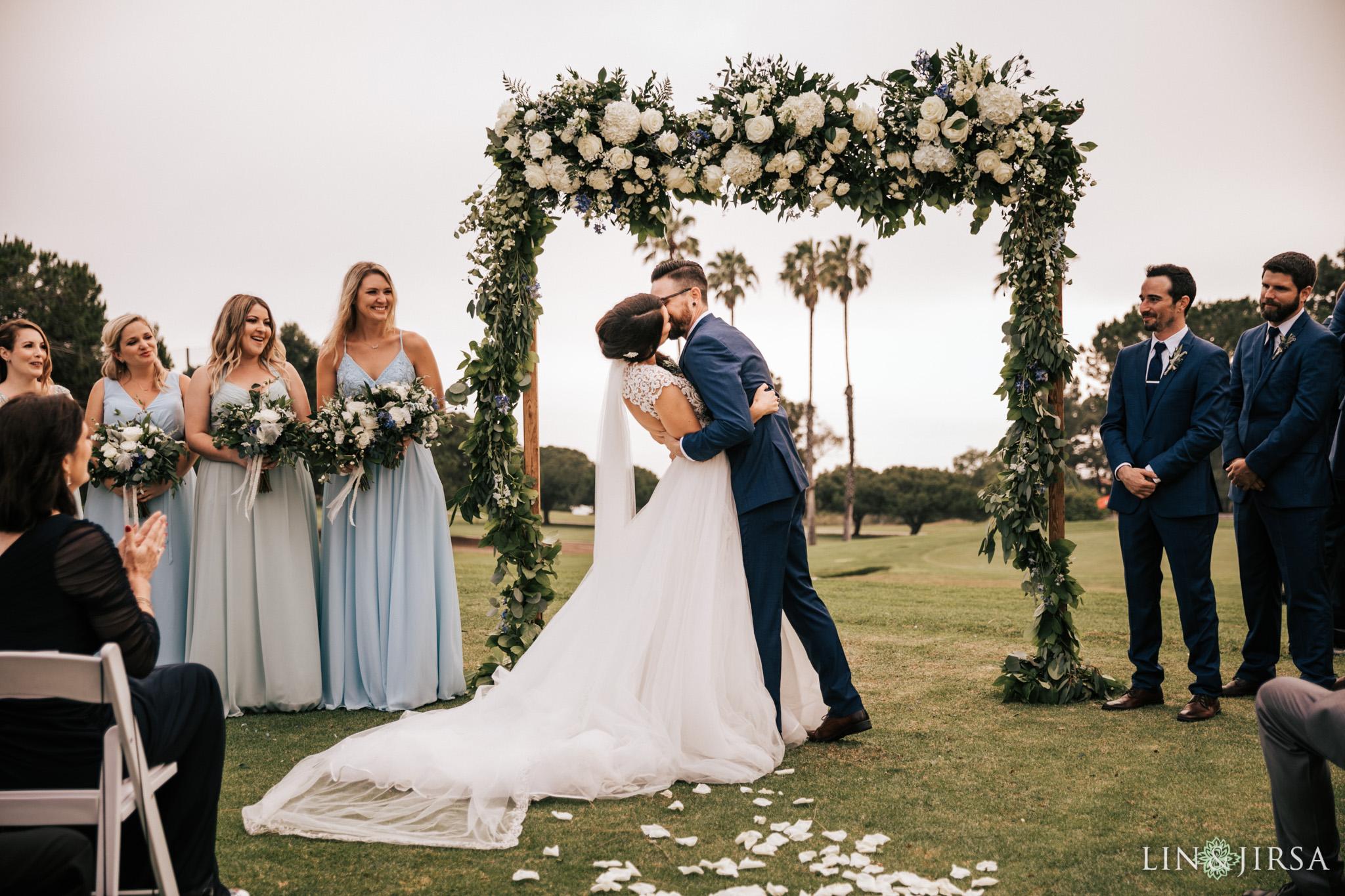 030 los verdes golf course wedding ceremony photography