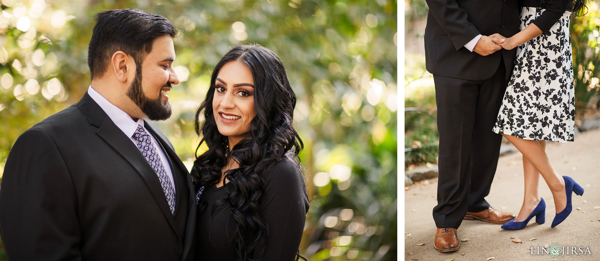 zmsantos descanso gardens los angeles county engagement session