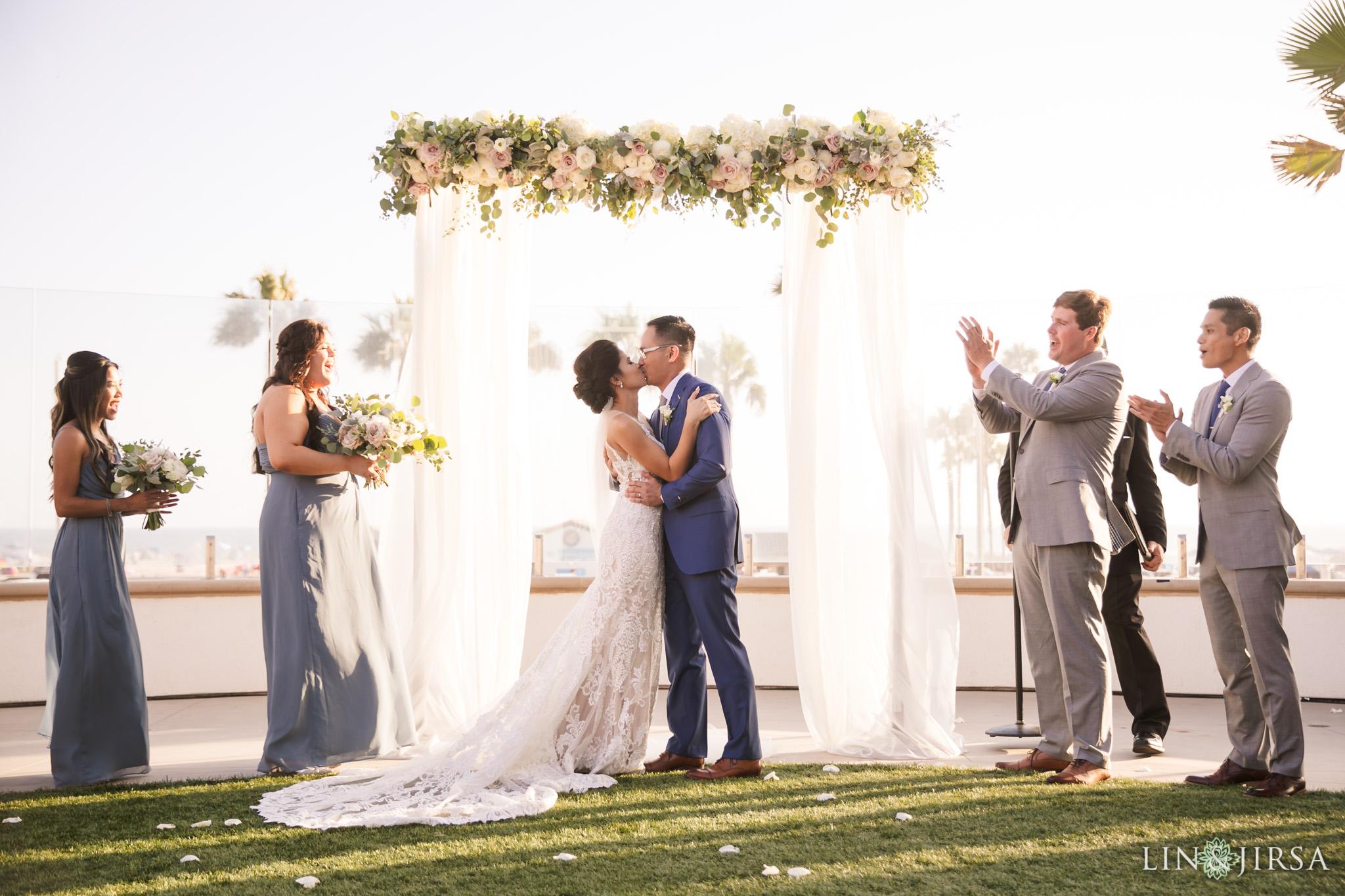 32 The Waterfront Beach Resort Huntington Beach Wedding Photography