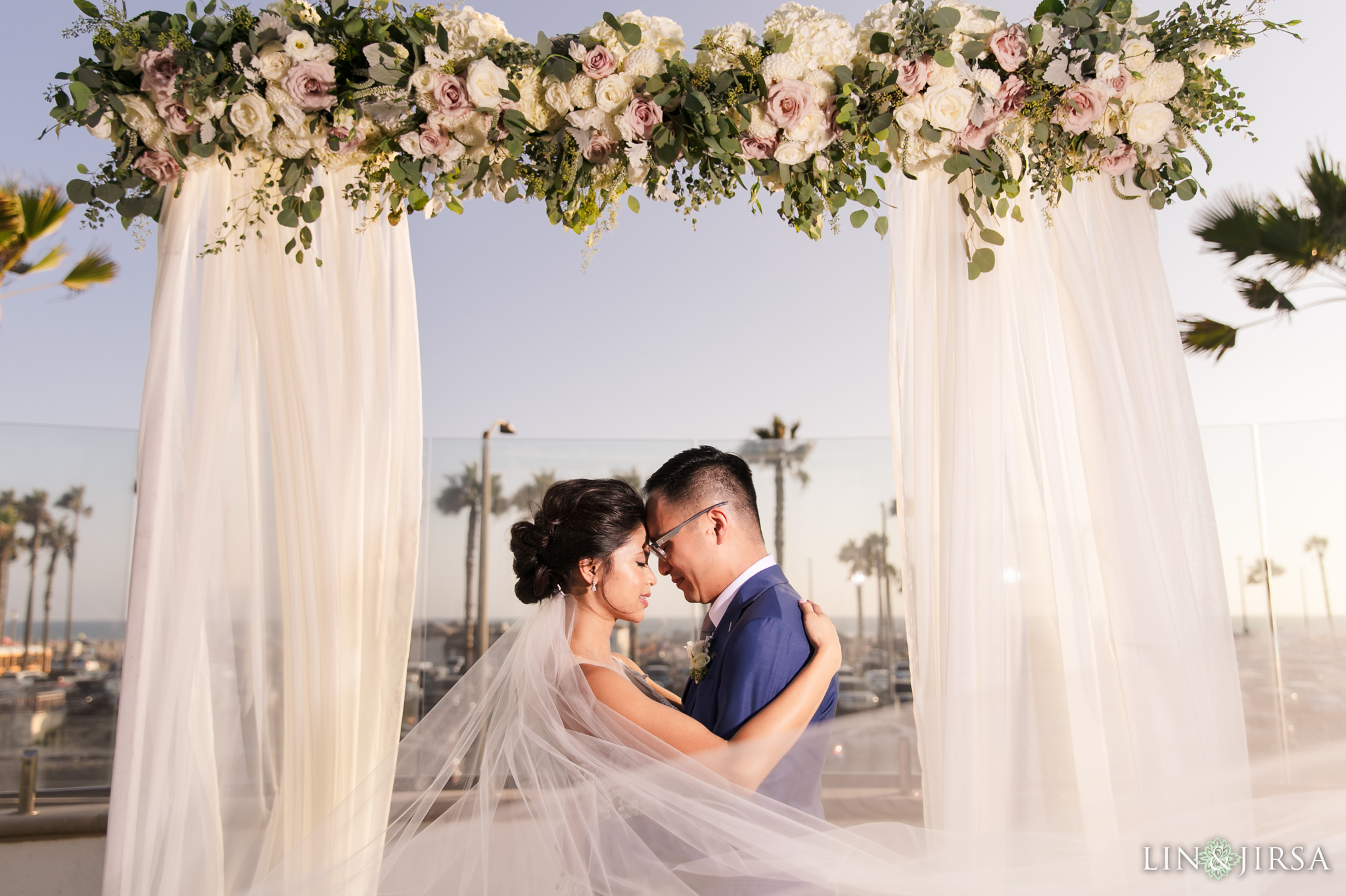 33 The Waterfront Beach Resort Huntington Beach Wedding Photography