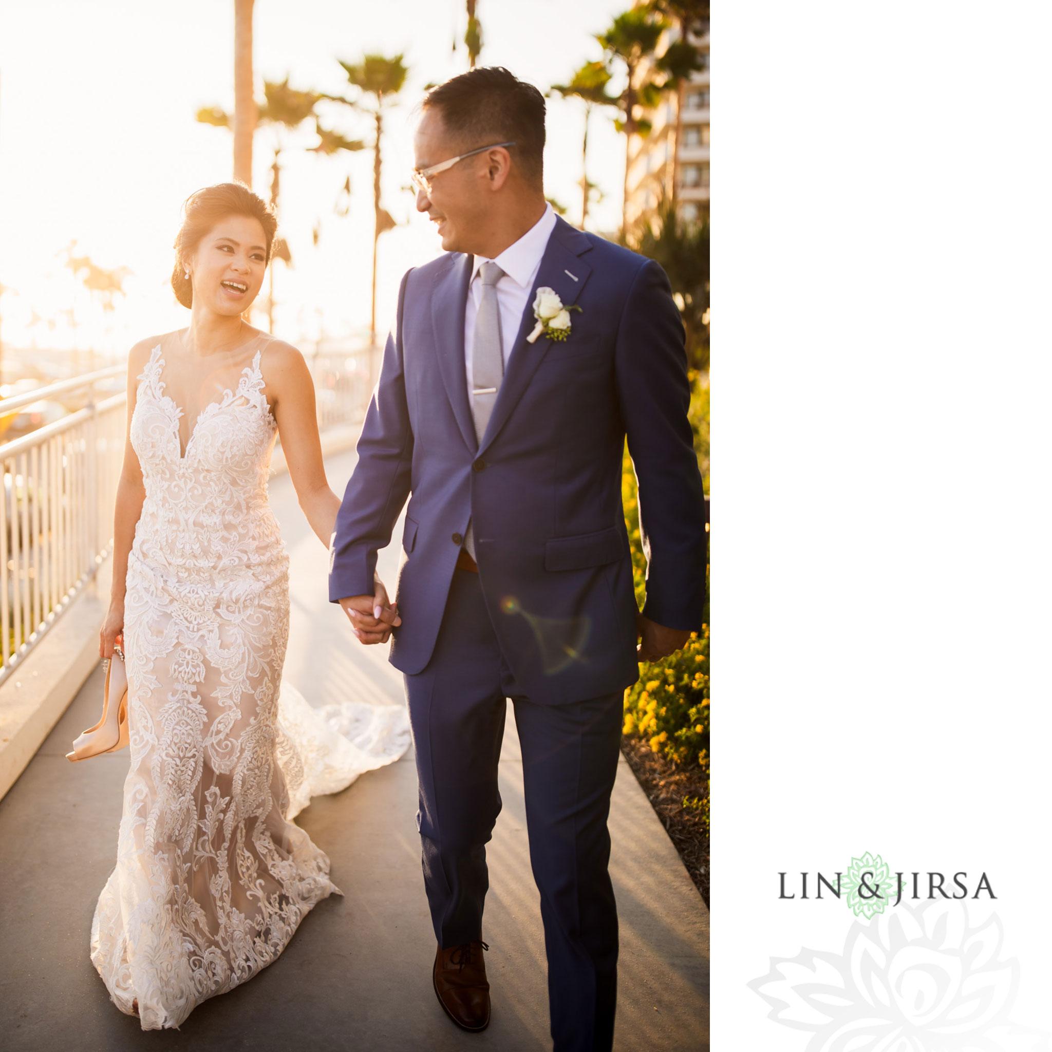 34 The Waterfront Beach Resort Huntington Beach Wedding Photography