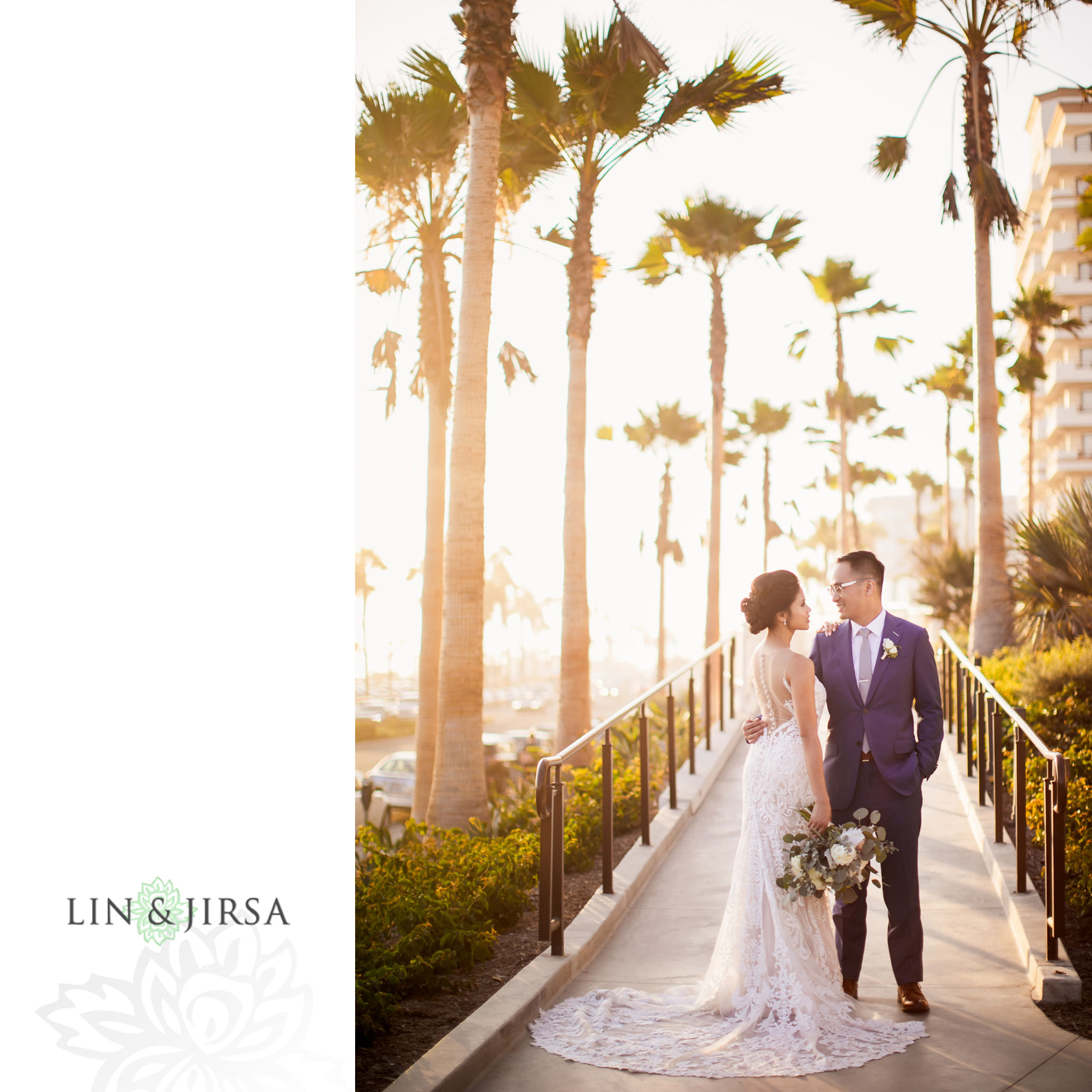 35 The Waterfront Beach Resort Huntington Beach Wedding Photography