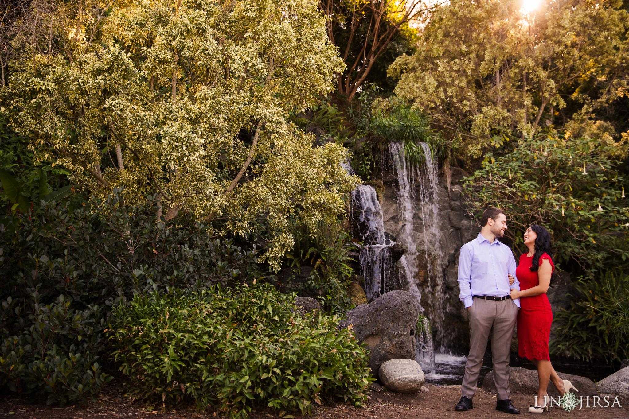 zbf los angeles arboretum engagement photography